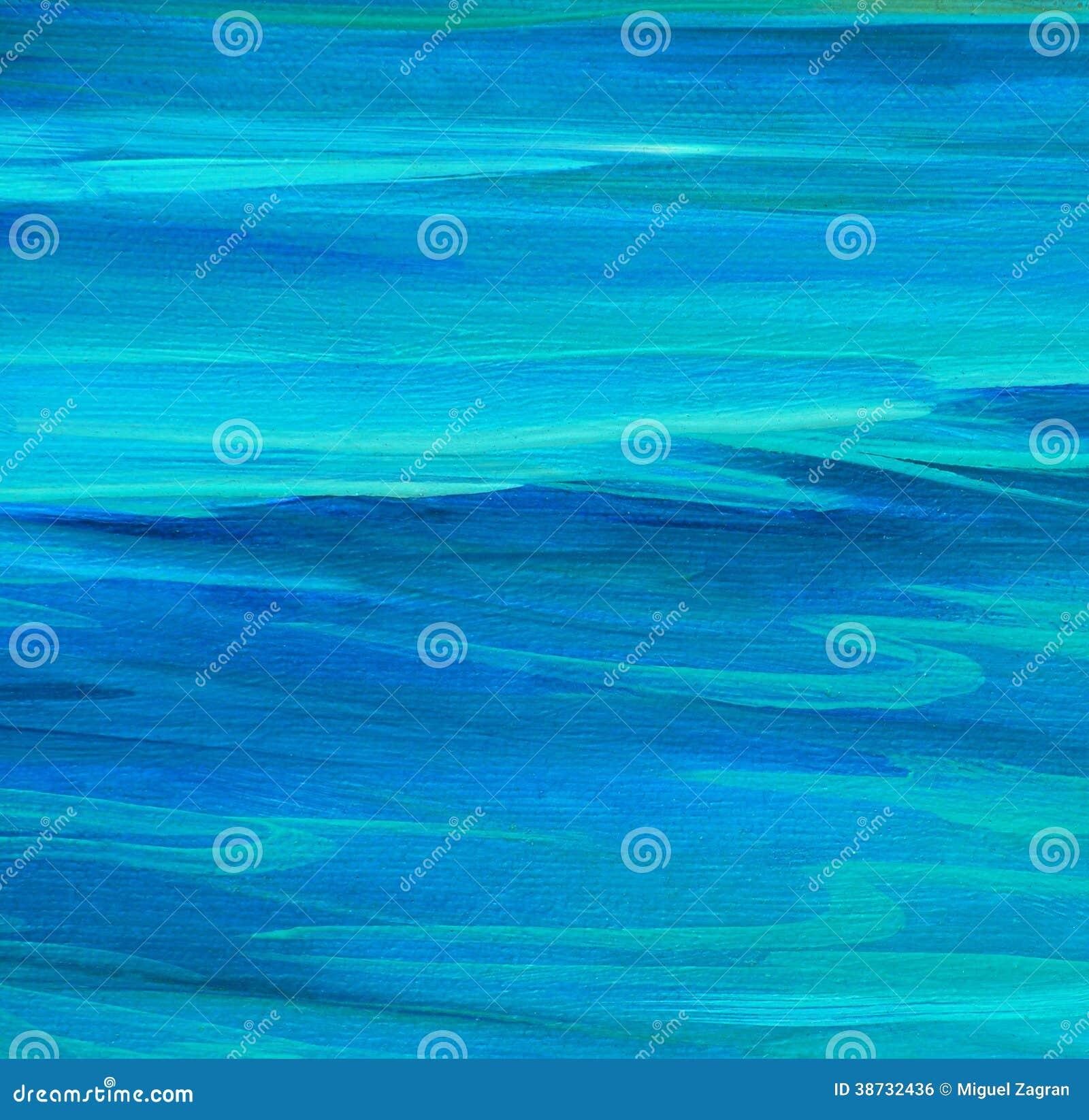 Поверхность моря ровная, крася маслом на холсте