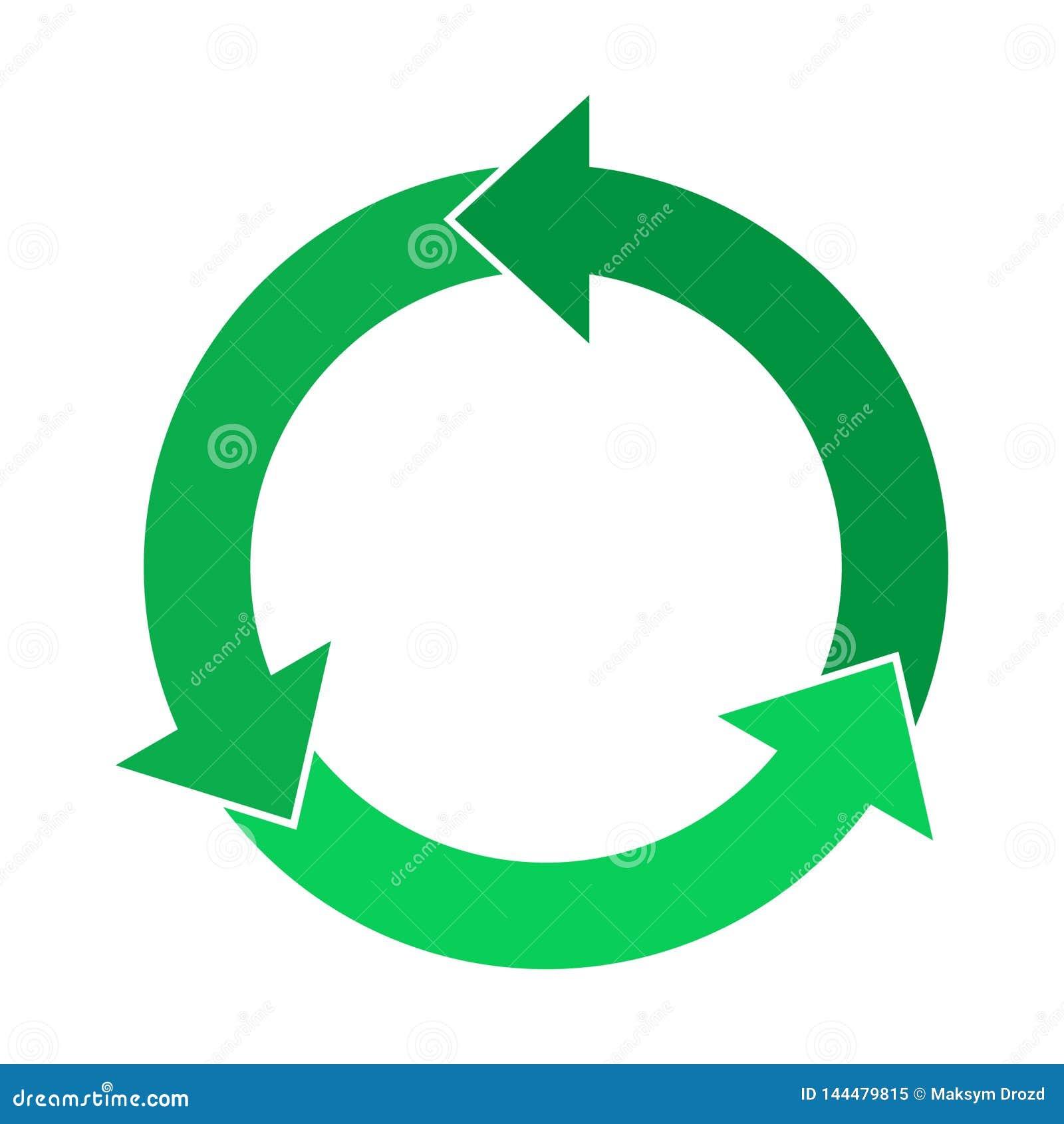 Повторно используйте знак, долевые диограммы шаблона стрелок круга infographic
