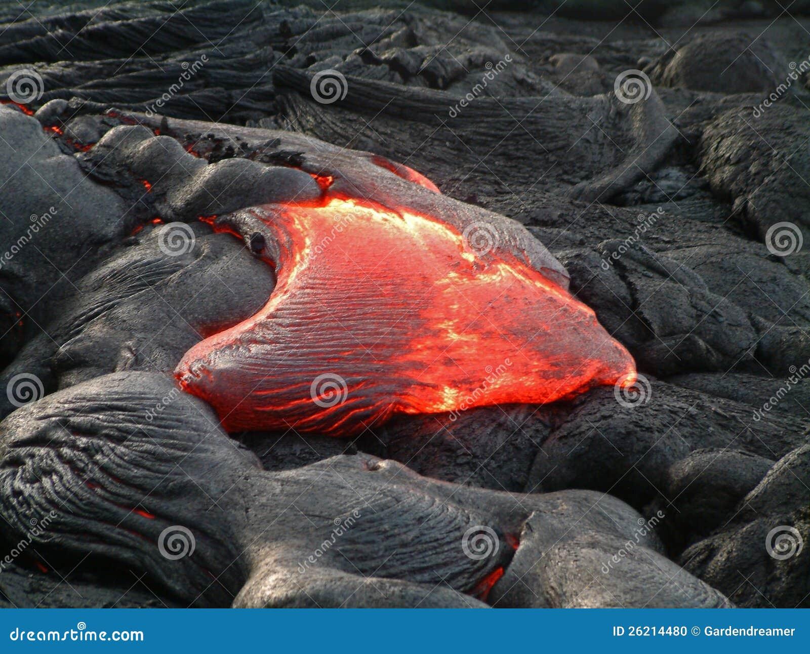 Подача лавы Гавайских островов