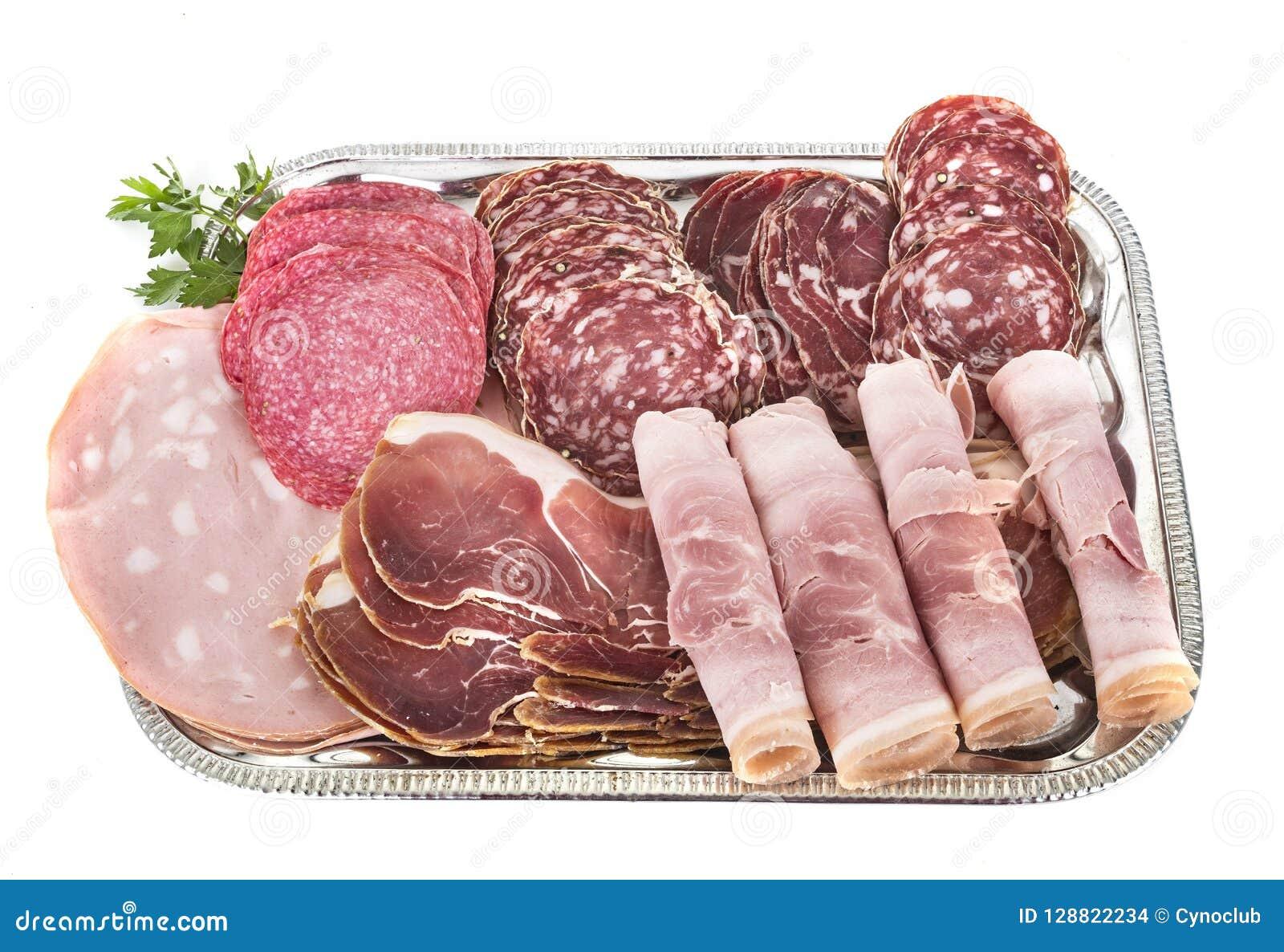 Поднос сваренных мяс