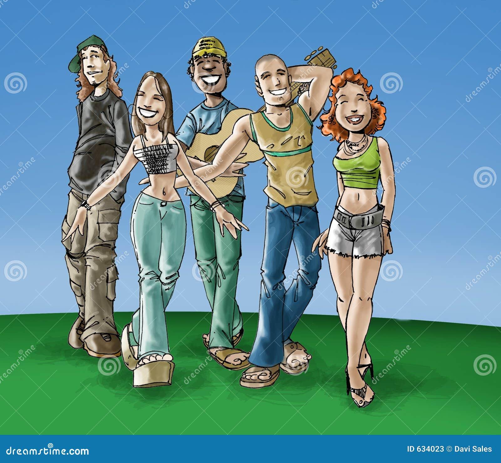 Download подросток иллюстрация штока. иллюстрации насчитывающей вскользь - 634023