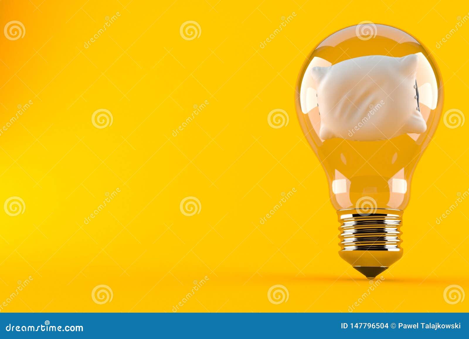 Подушка внутри электрической лампочки