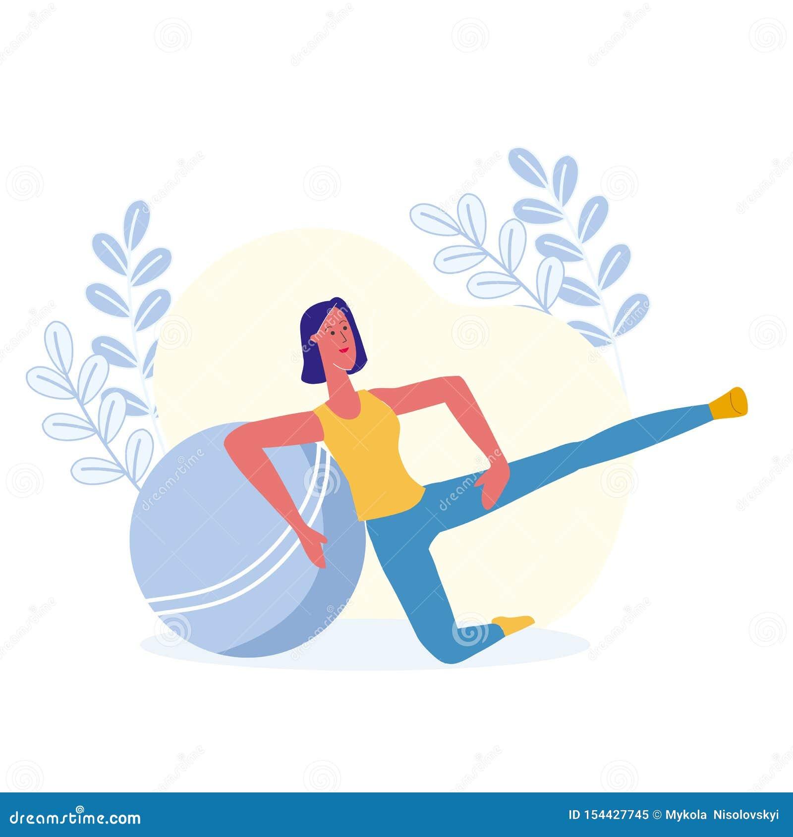 Подъемы ноги, иллюстрация вектора физических упражнений
