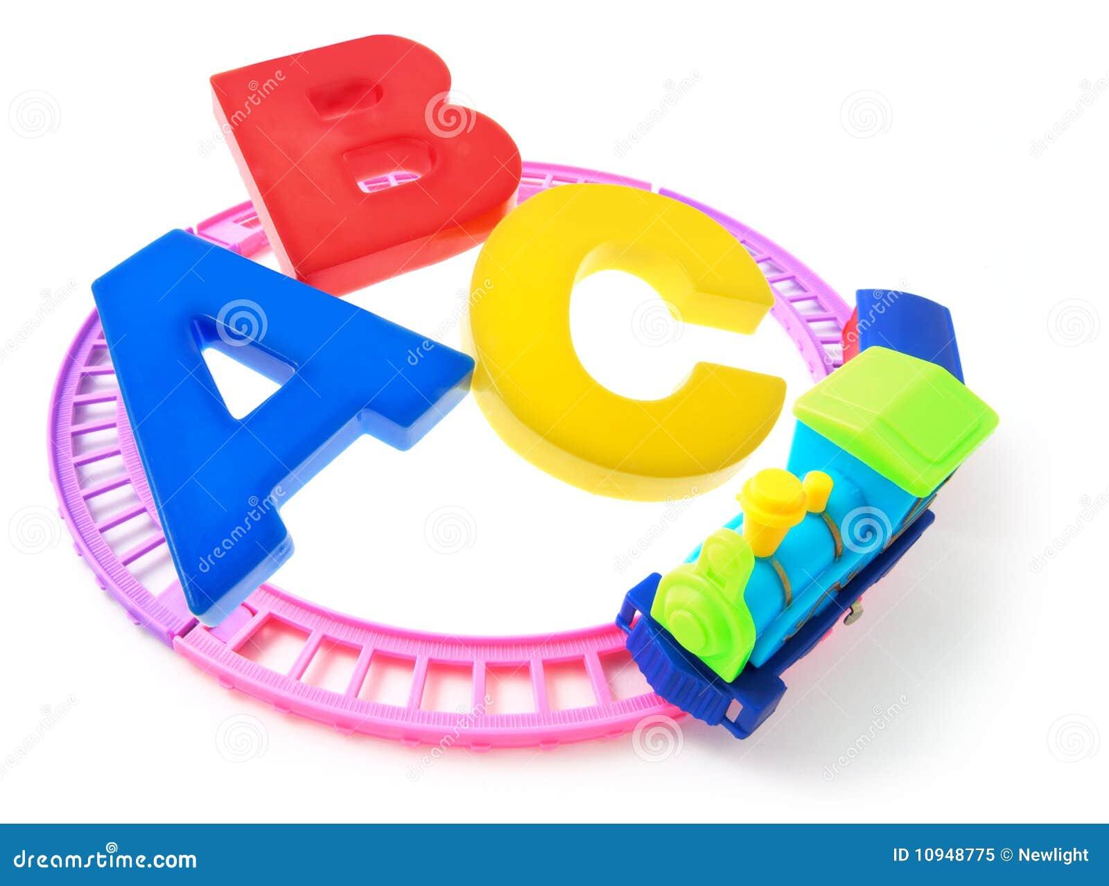 поезд игрушки алфавитов