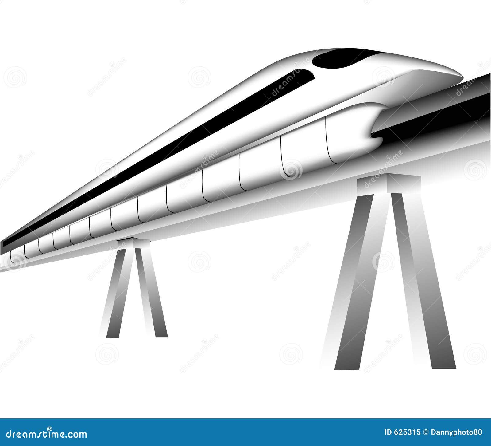 Download поезд maglev иллюстрация штока. иллюстрации насчитывающей привлекают - 625315