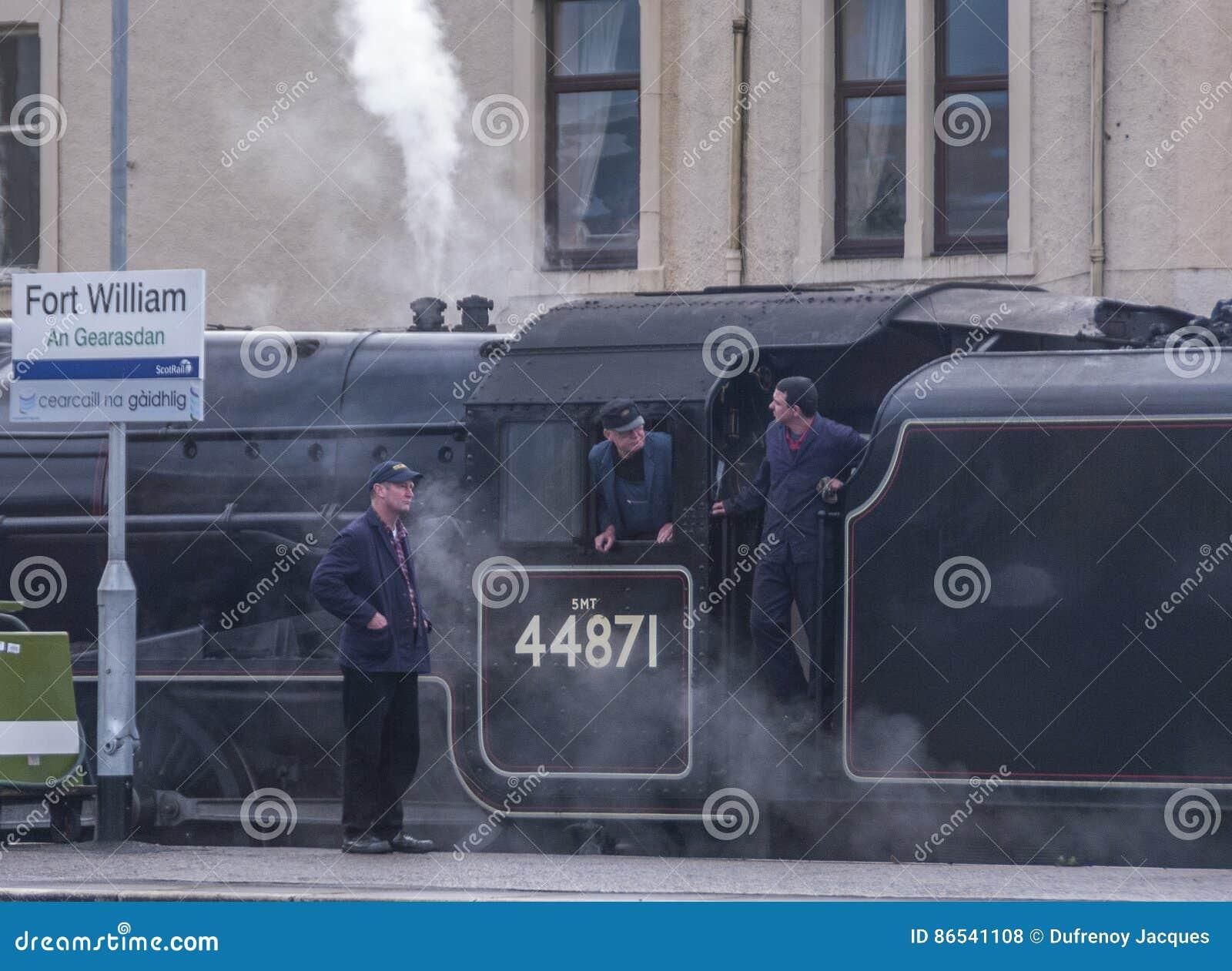 Поезд пара Jacobite