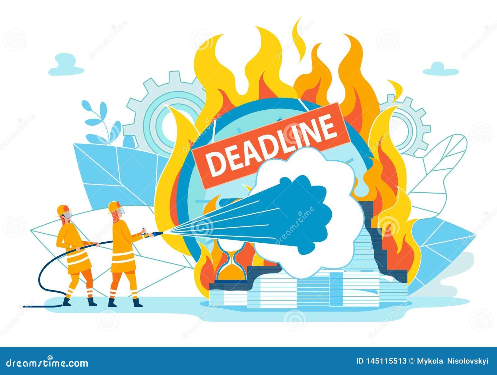 Пожарные тушат крайний срок надписи
