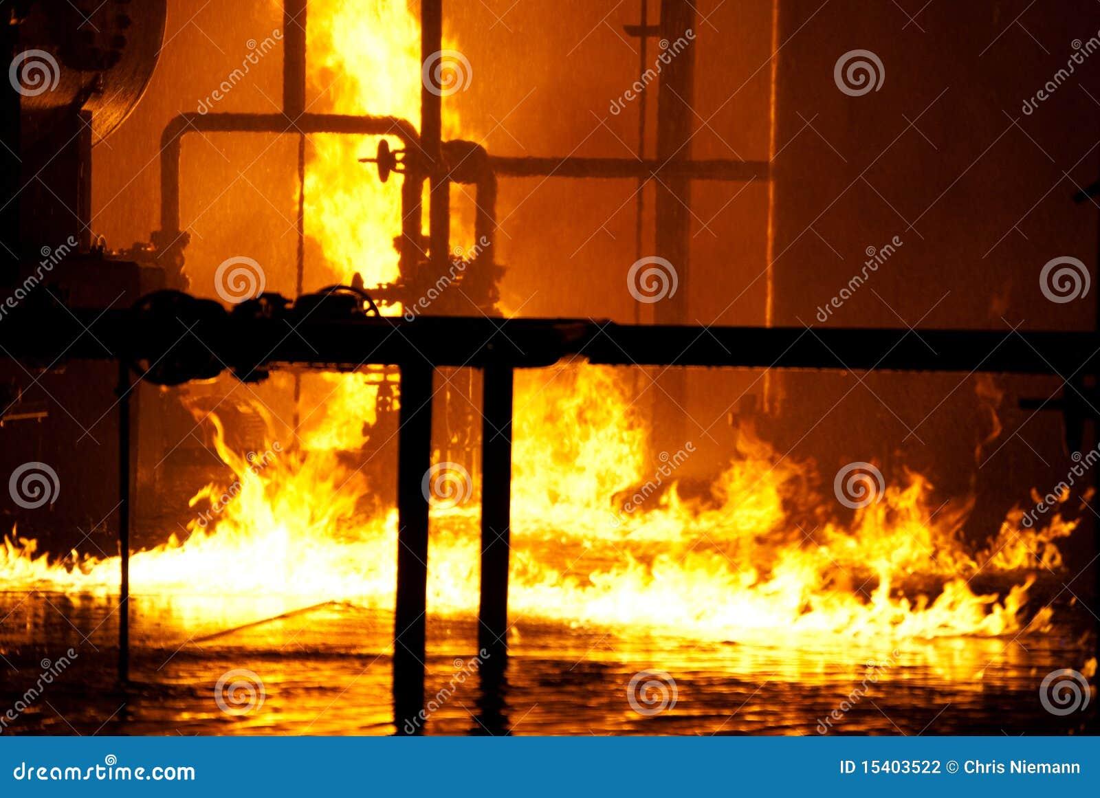 пожар промышленный