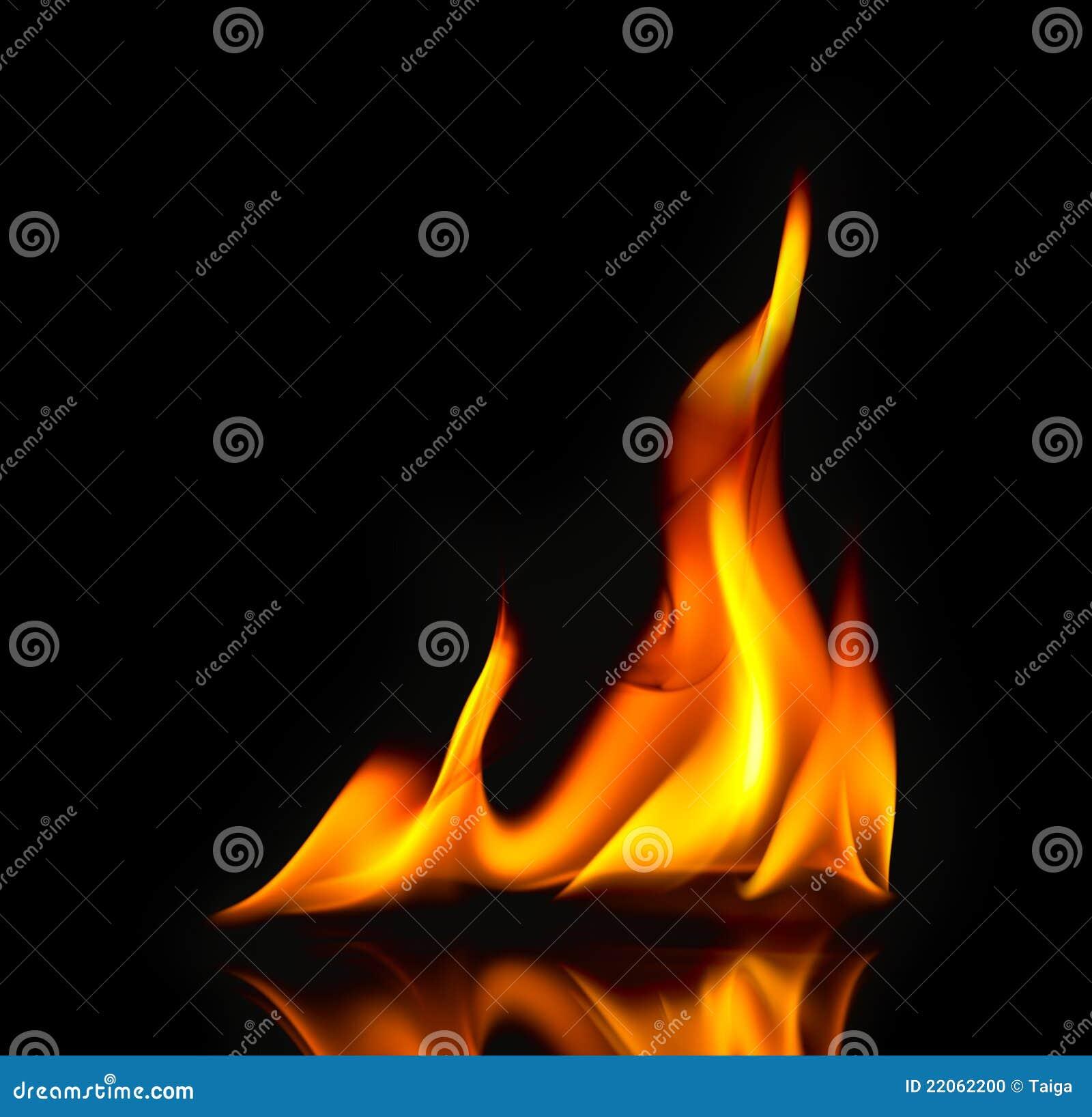 пожар пылает отражение