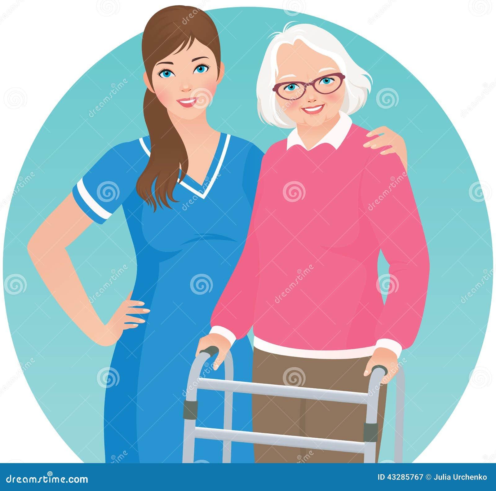 Медсестра и пациент женщина