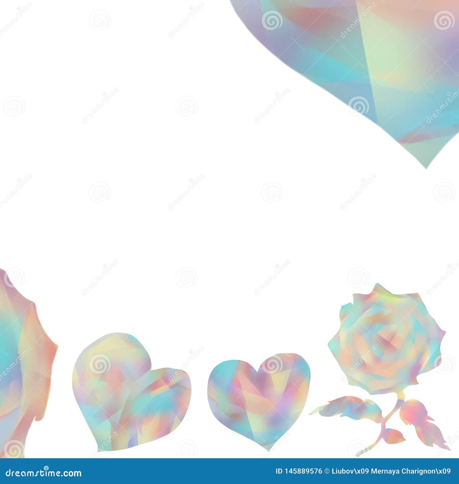 Поздравительные открытки для дня или свадьбы Valentine's