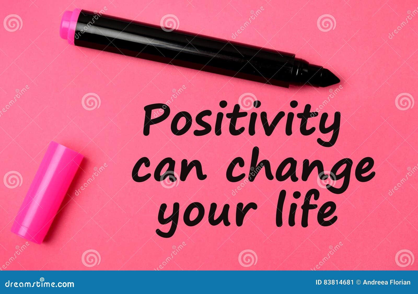 Позитивность может изменить ваши слова жизни
