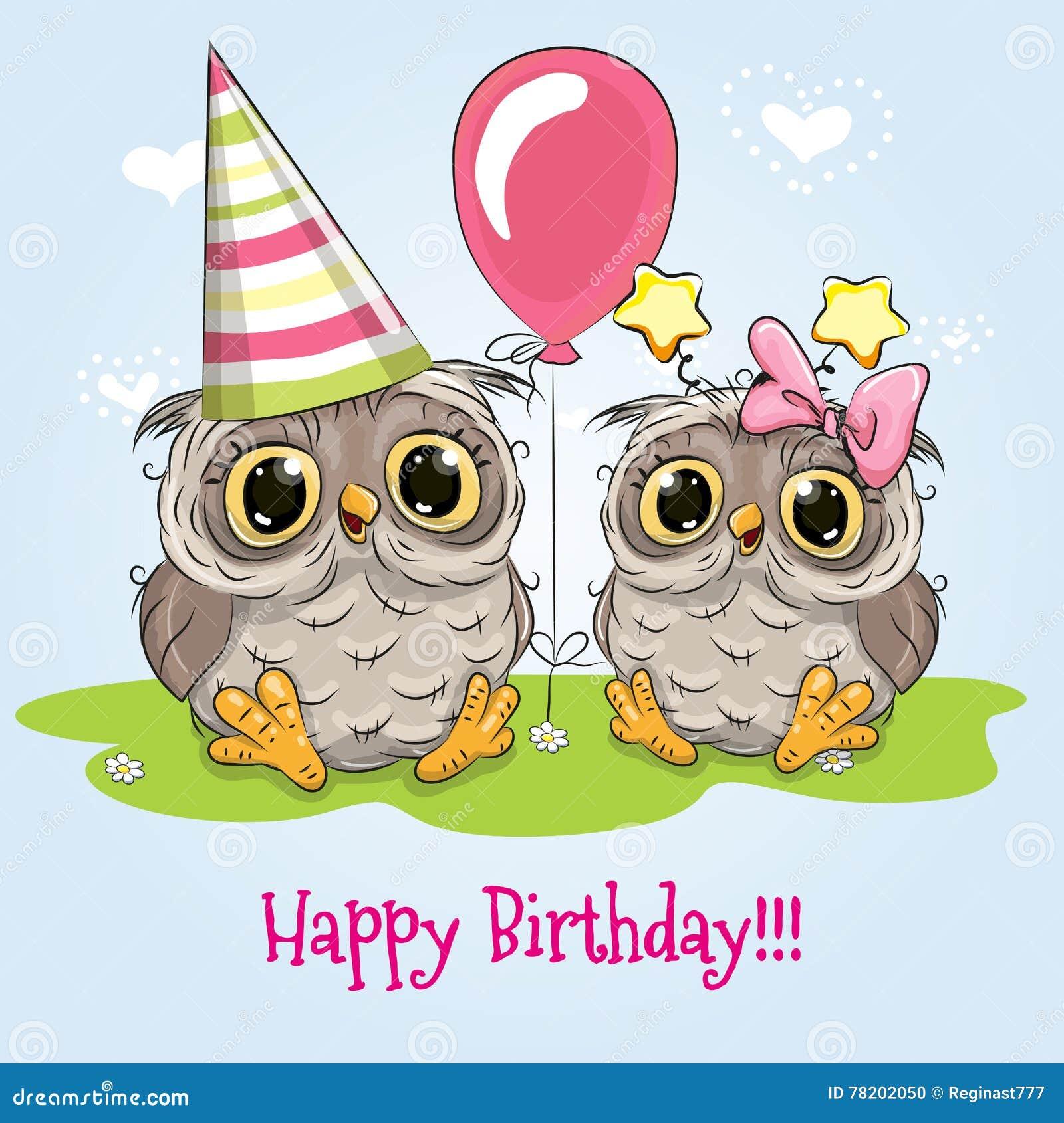 Романтичные картинки, открытка совята с днем рождения