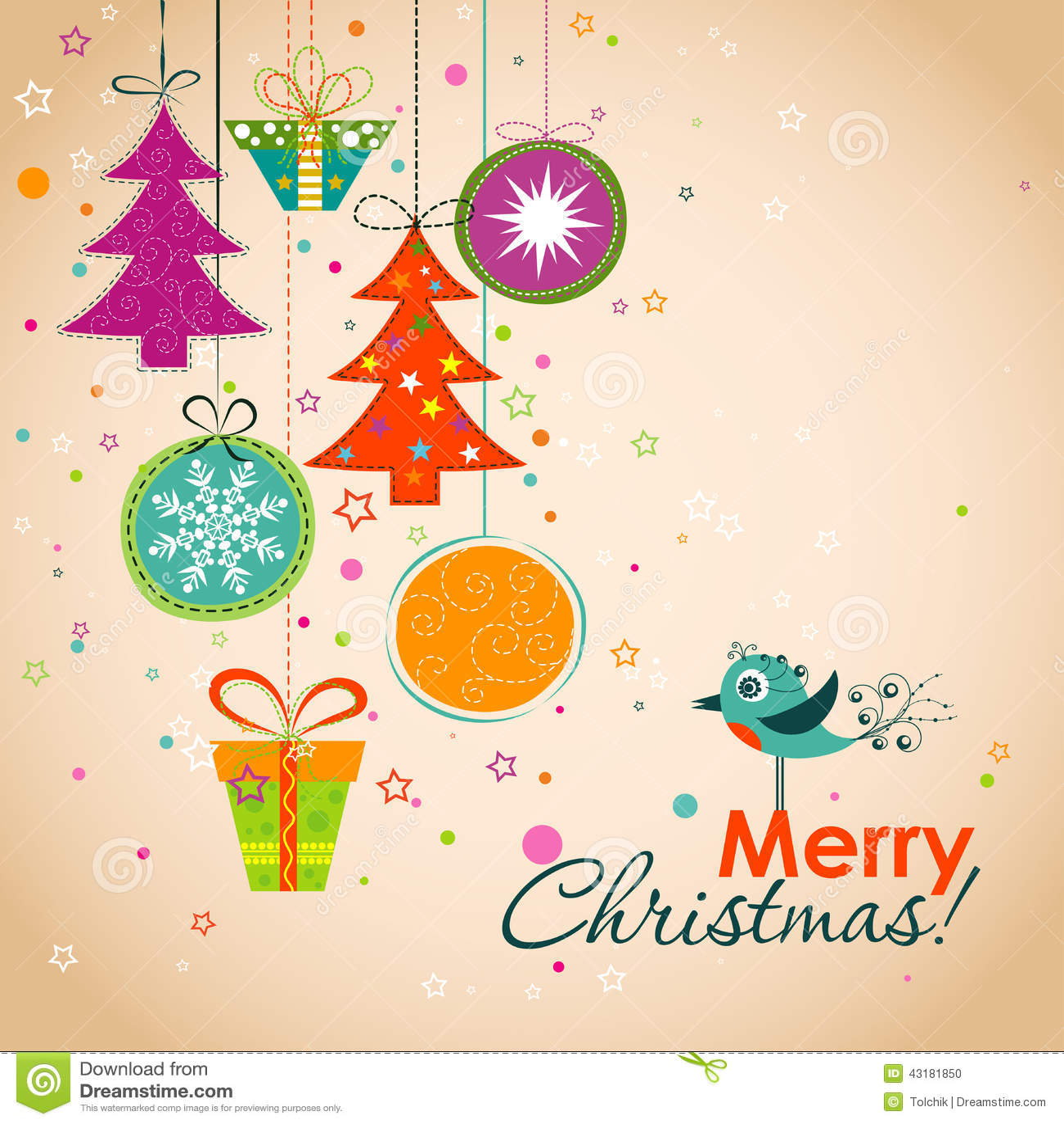 Поздравительная открытка рождества шаблона, лента, вектор