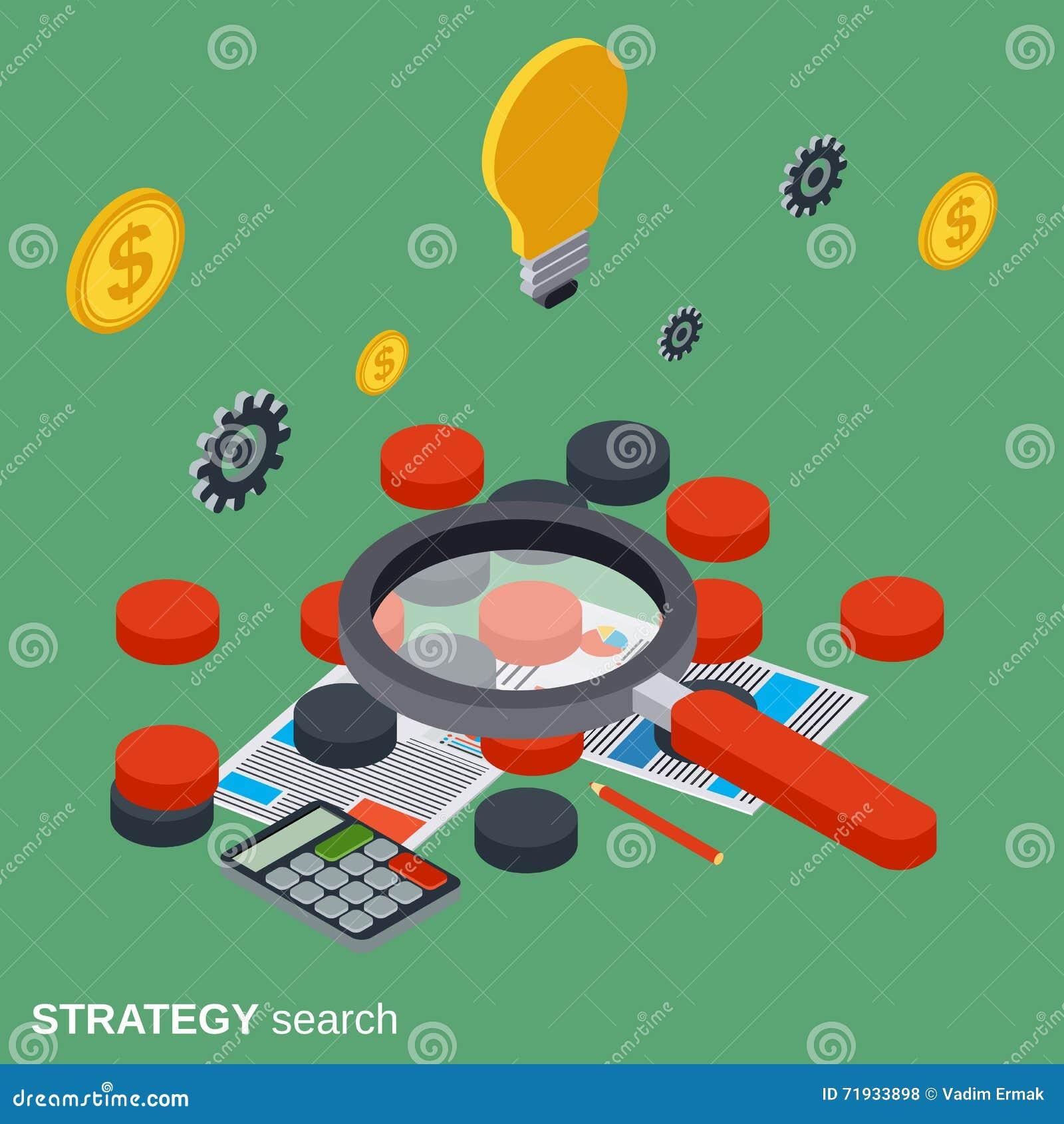 Поиск стратегии, выбор решения, концепция вектора поисков дела