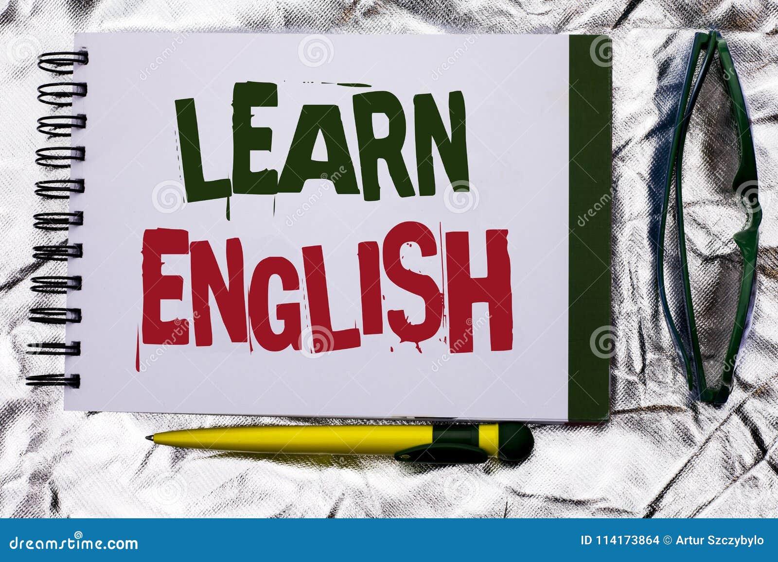 Показ знака текста учит английский язык Схематическое исследование другое фото