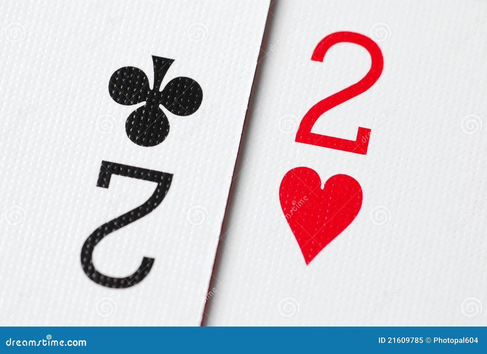 покер 2 карточек