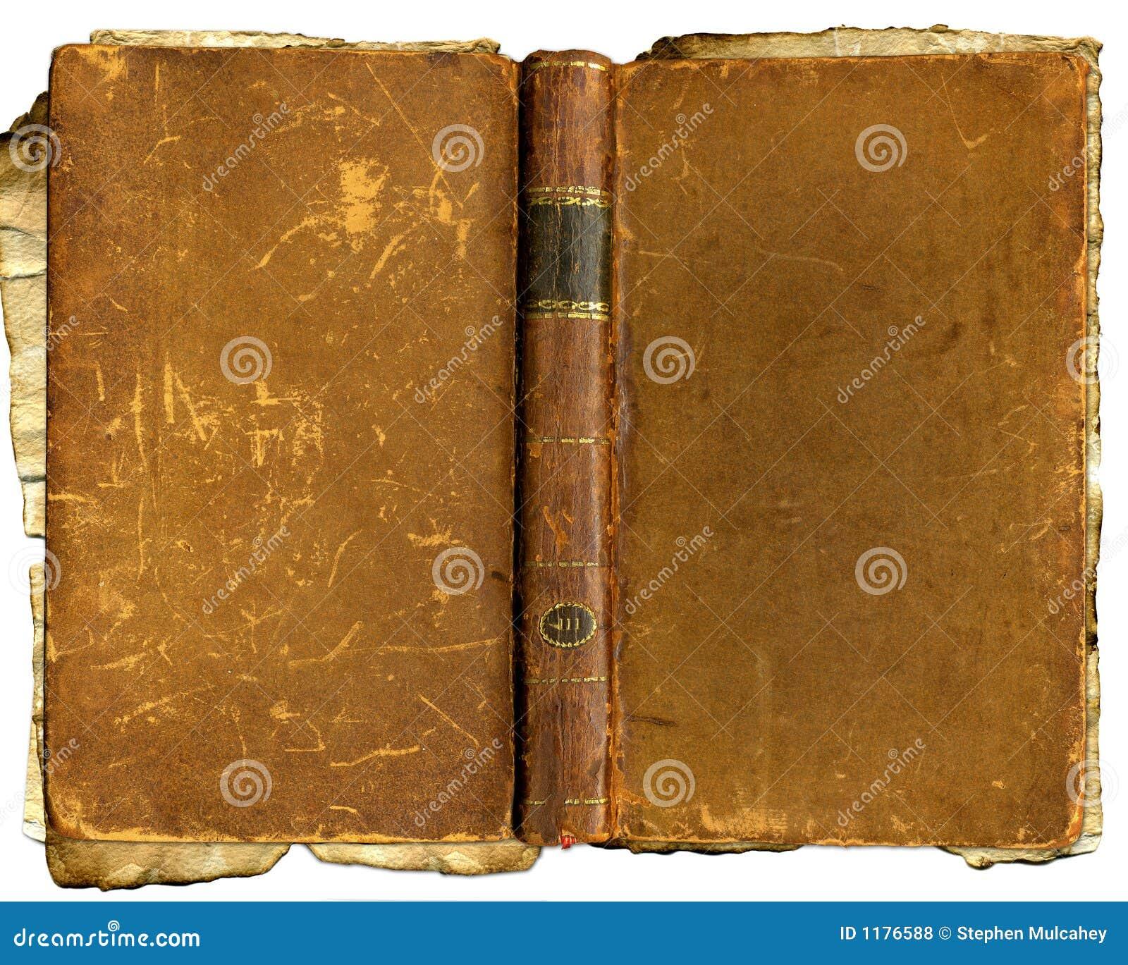 поколоченный коричневый цвет книги старый