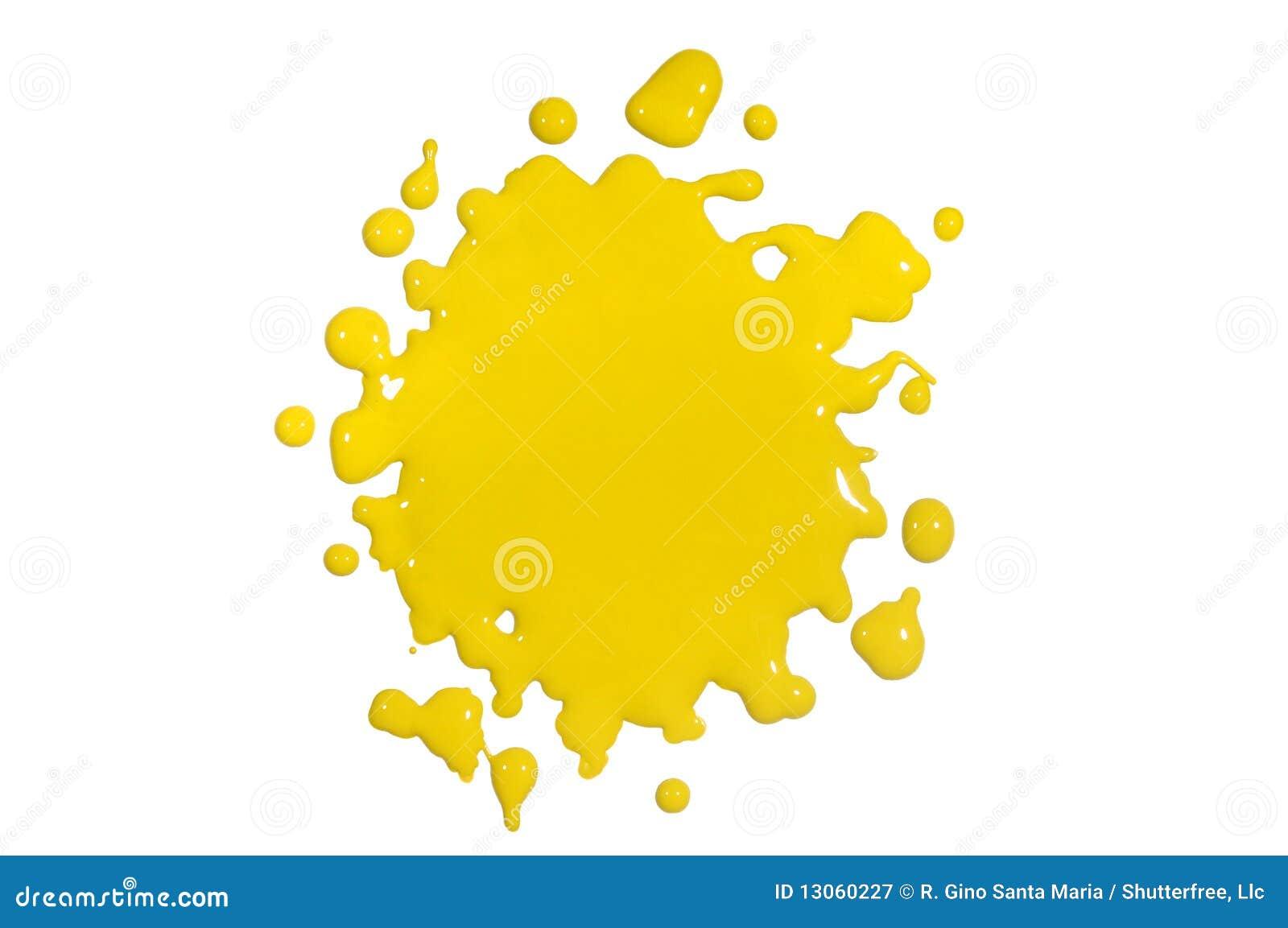 покрасьте желтый цвет splatter