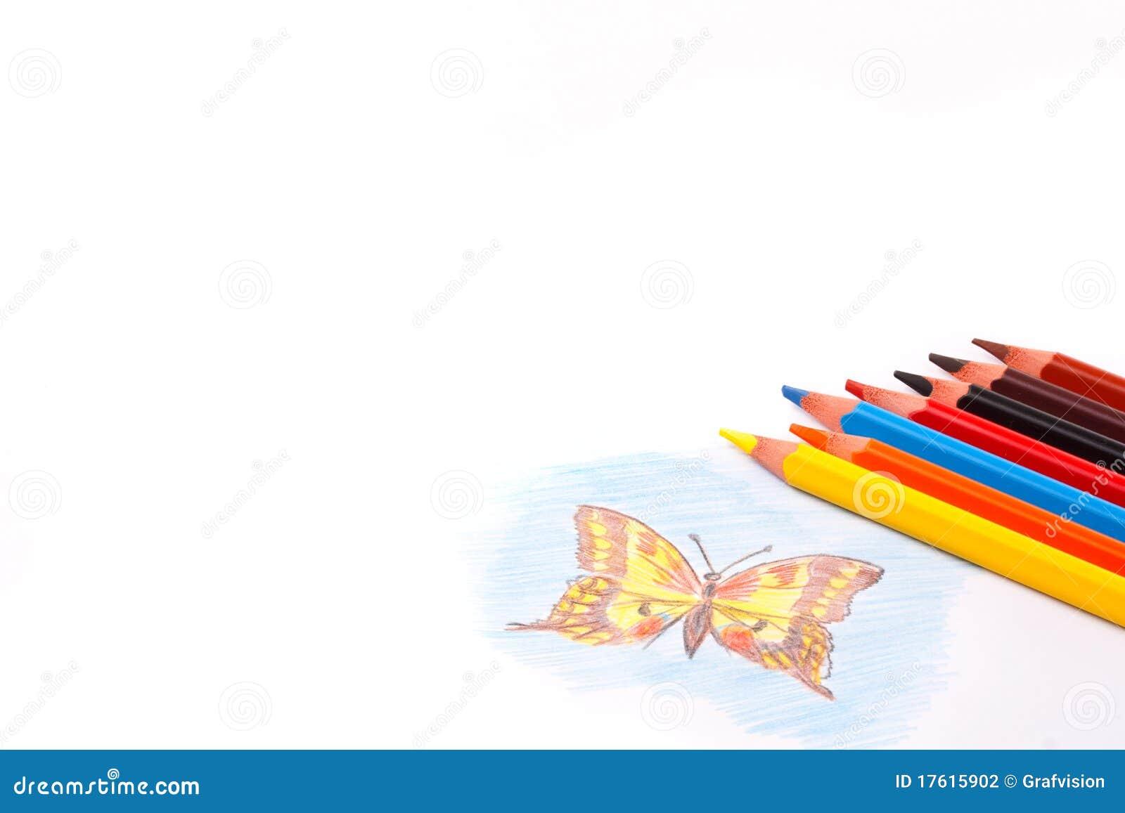 покрасьте карандаши триангулярным