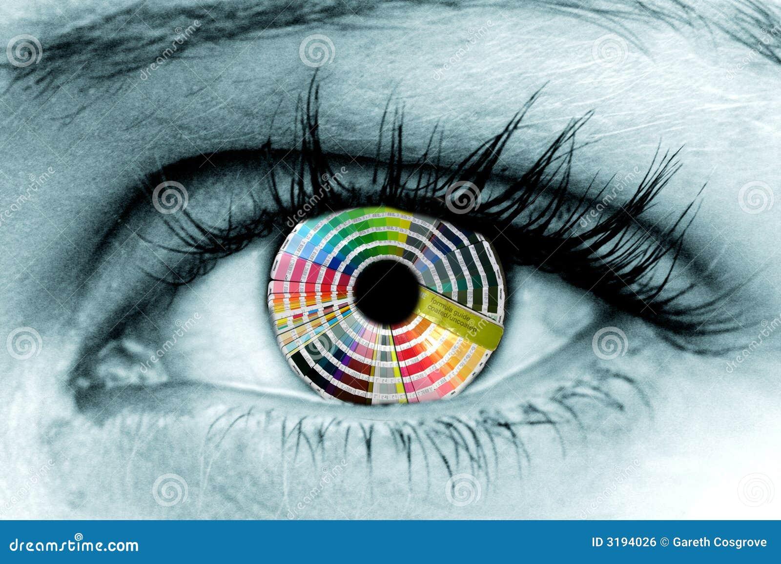покрасьте колесо глаза