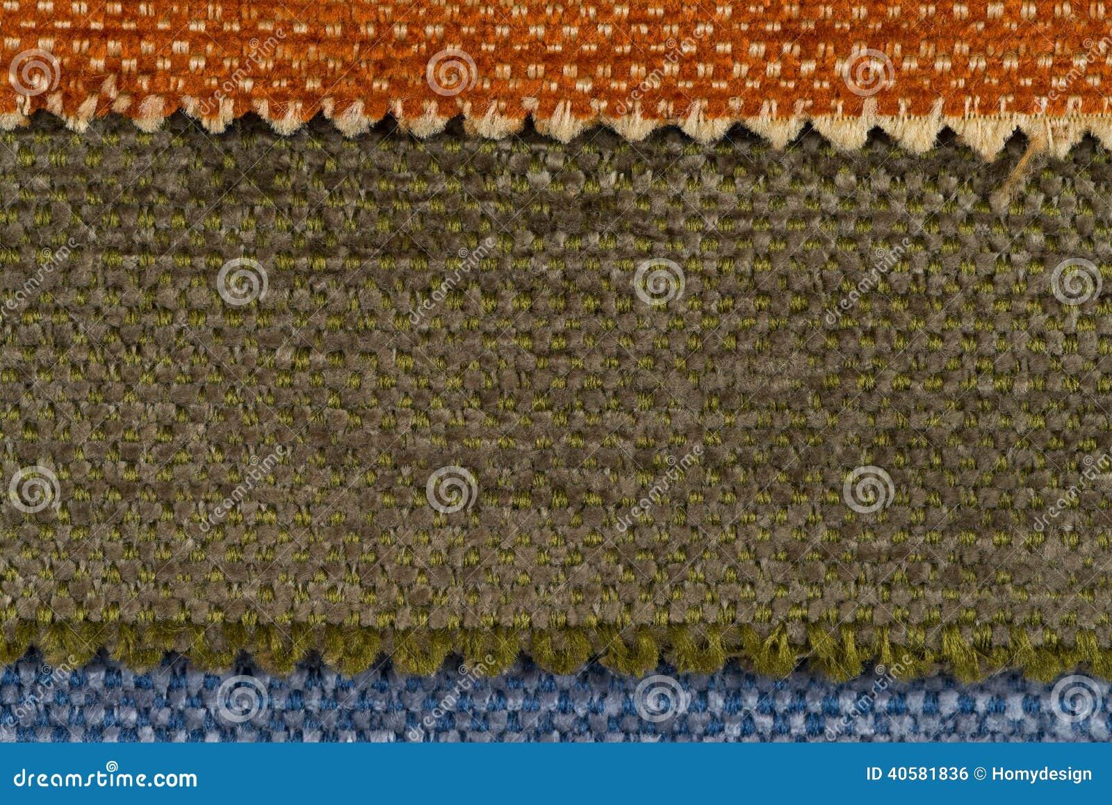 покрасьте текстуру образцов ткани multi