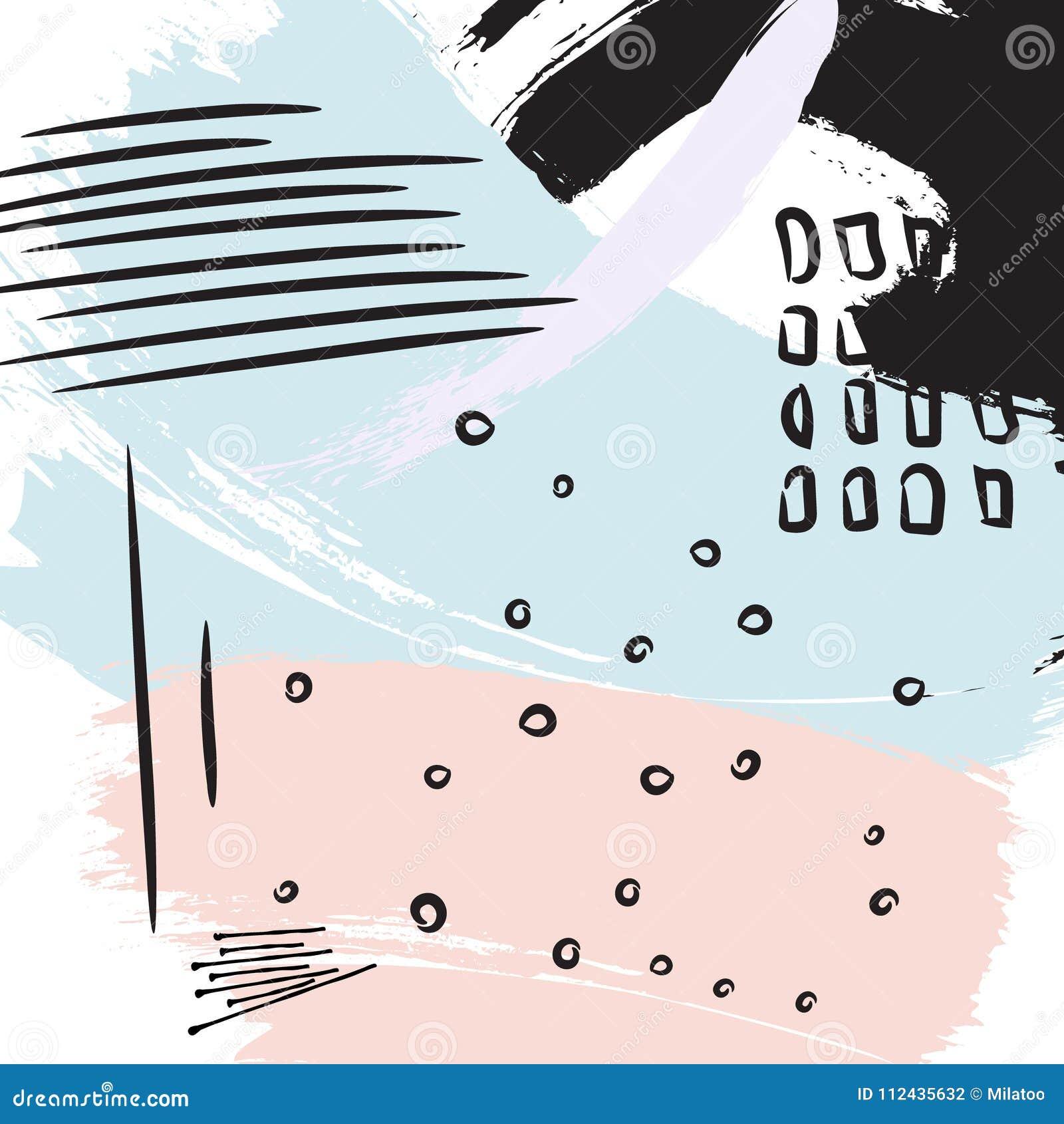 Покрасьте фиолетовый черный ход щетки Предпосылка вектора моды абстрактная Элементы grunge цвета splater акварели Colorfu