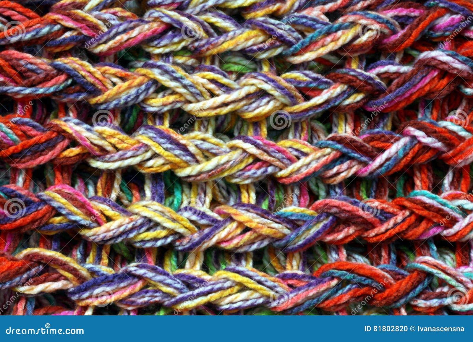 Покрашенная связанная текстура шерстей