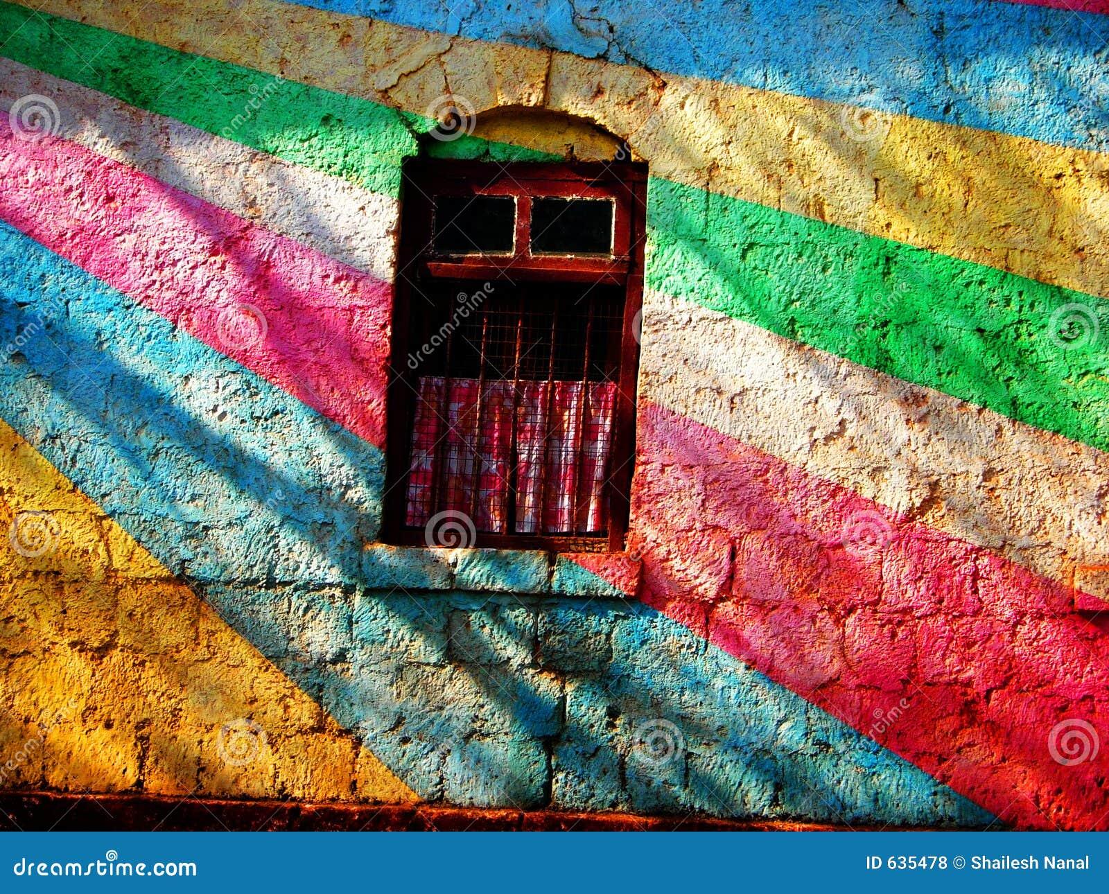 Download покрашенная стена стоковое фото. изображение насчитывающей уникально - 635478