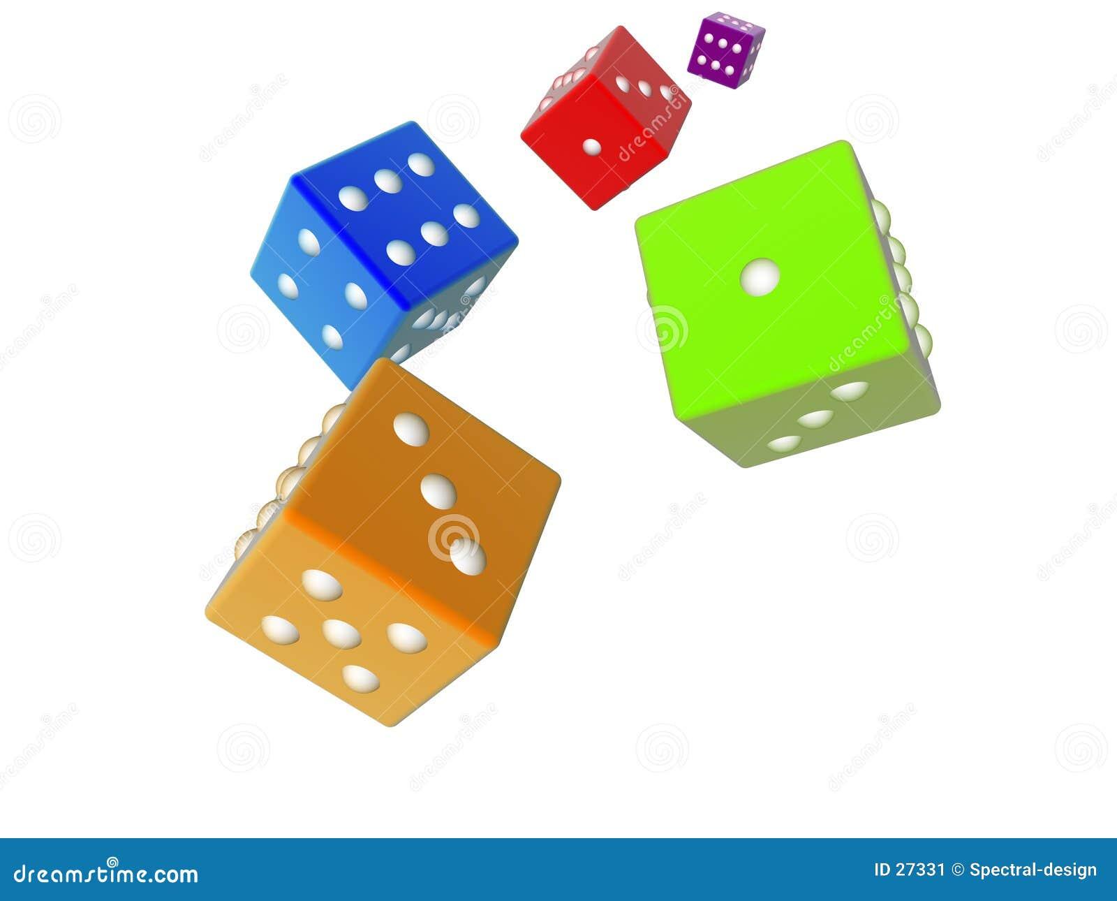 покрашенное 3d dices