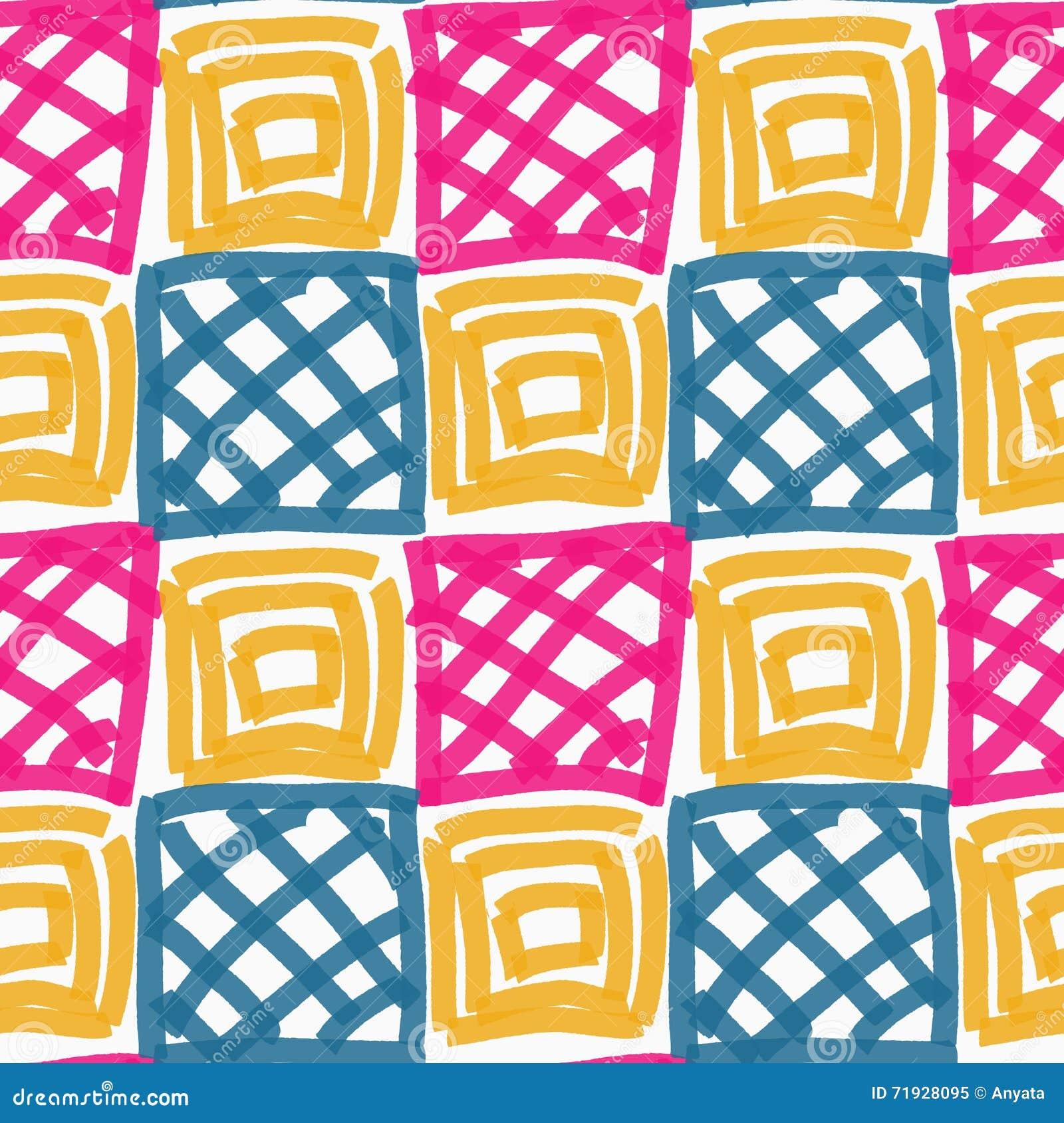 Покрашенные розовые голубые и желтые квадраты