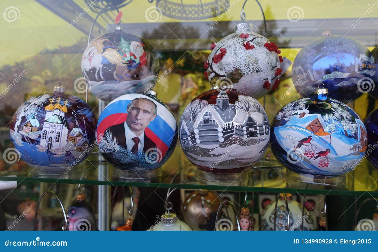 Покрашенные шарики рождества на теме России