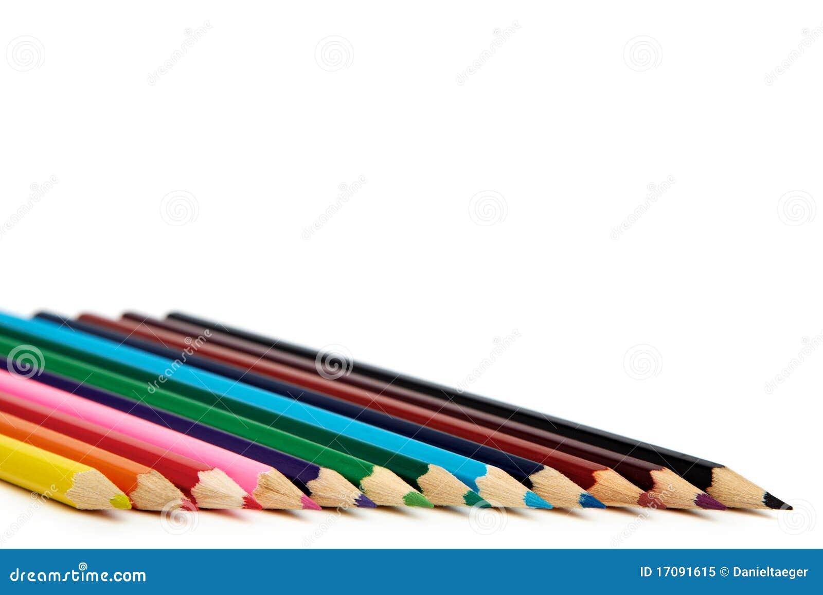 покрашенные crayons