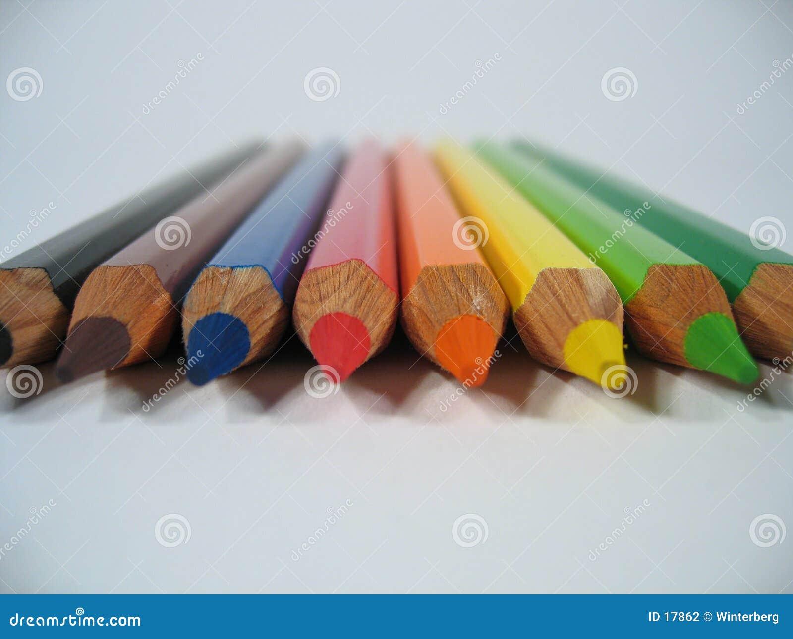 покрашенные crayons i