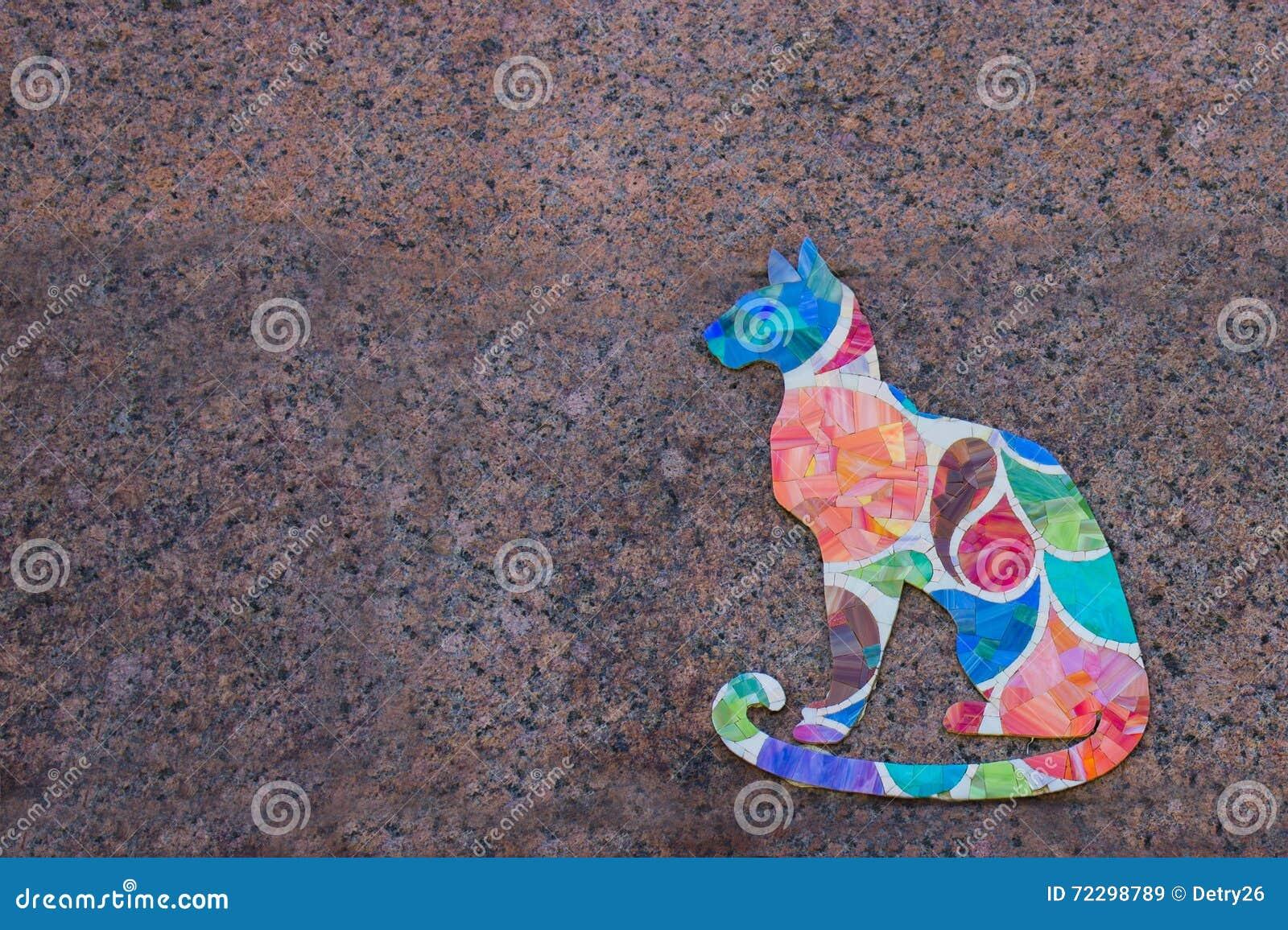 Download Покрашенный кот на стене стоковое изображение. изображение насчитывающей ангстрома - 72298789
