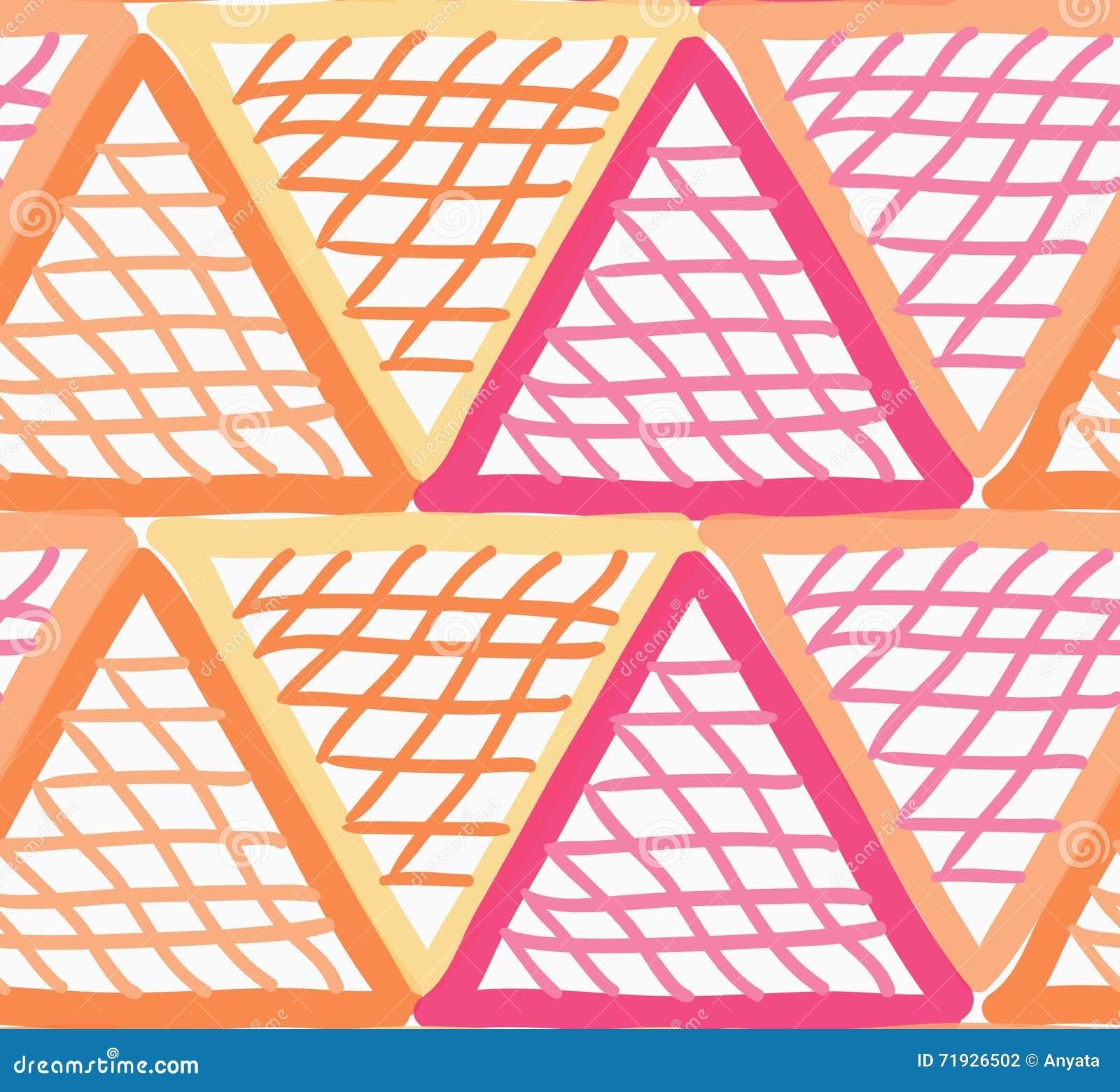 Покрашенный красные и оранжевые треугольники отметки checkered