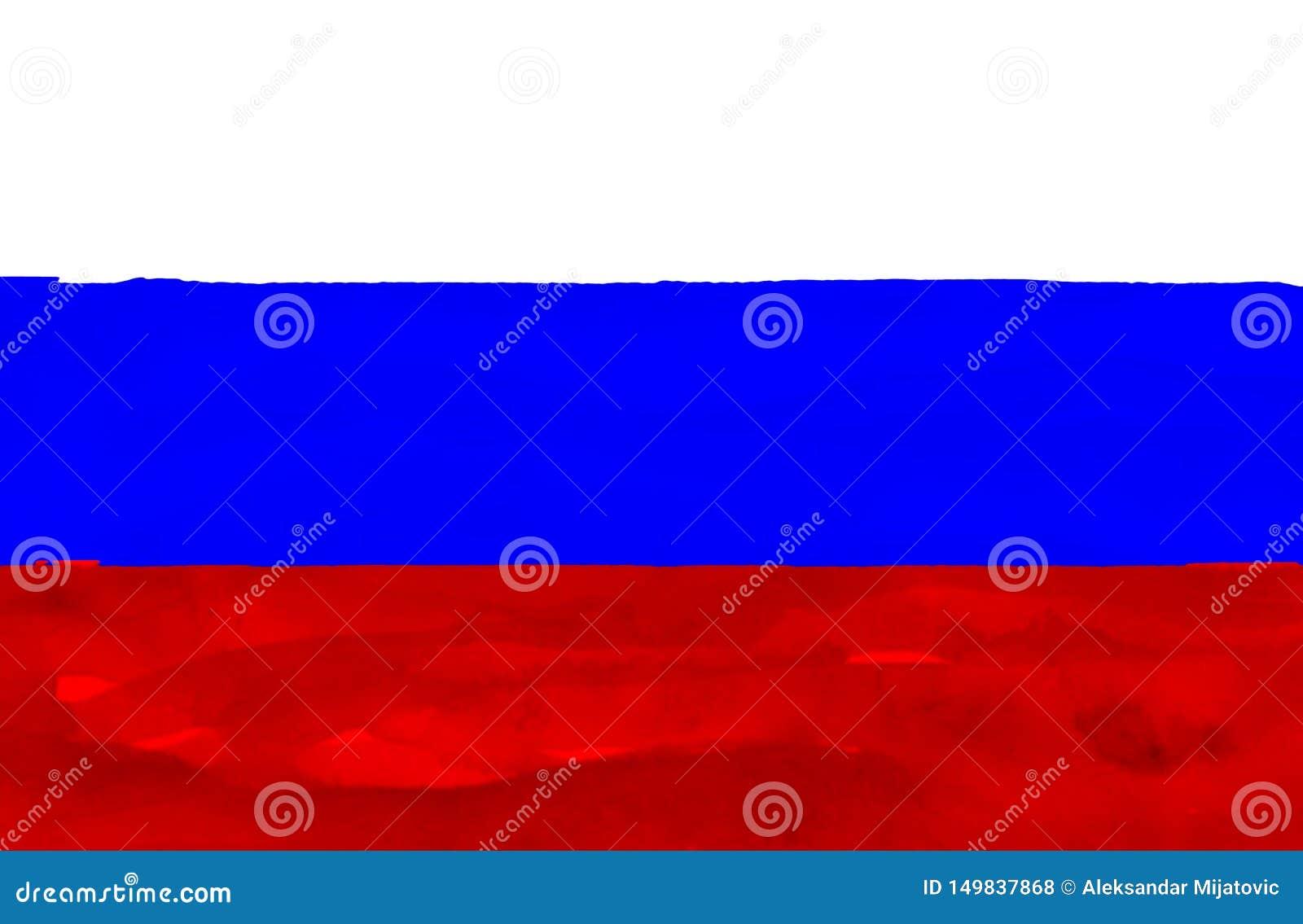 Покрашенный флаг России