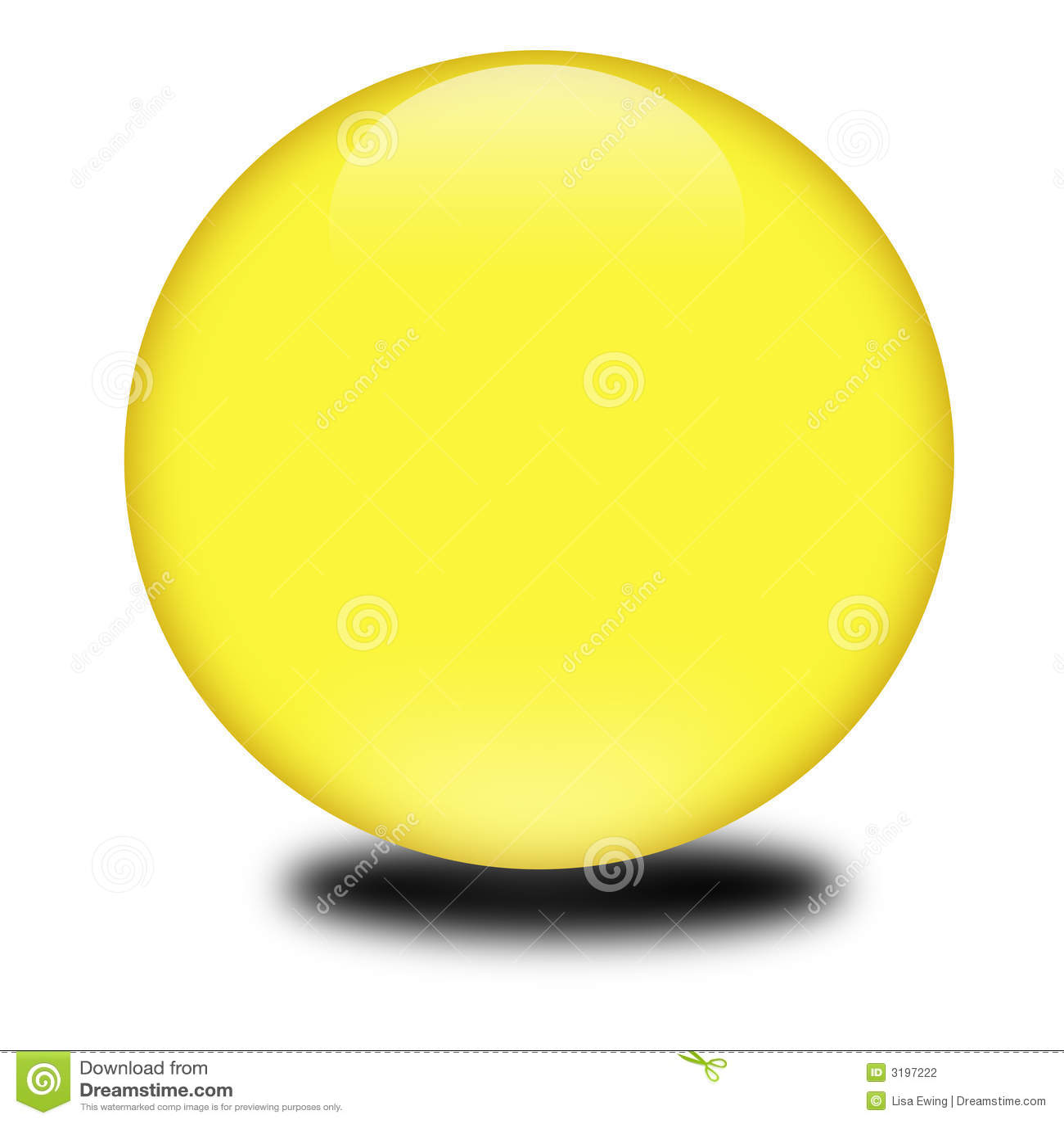 покрашенный 3d желтый цвет сферы