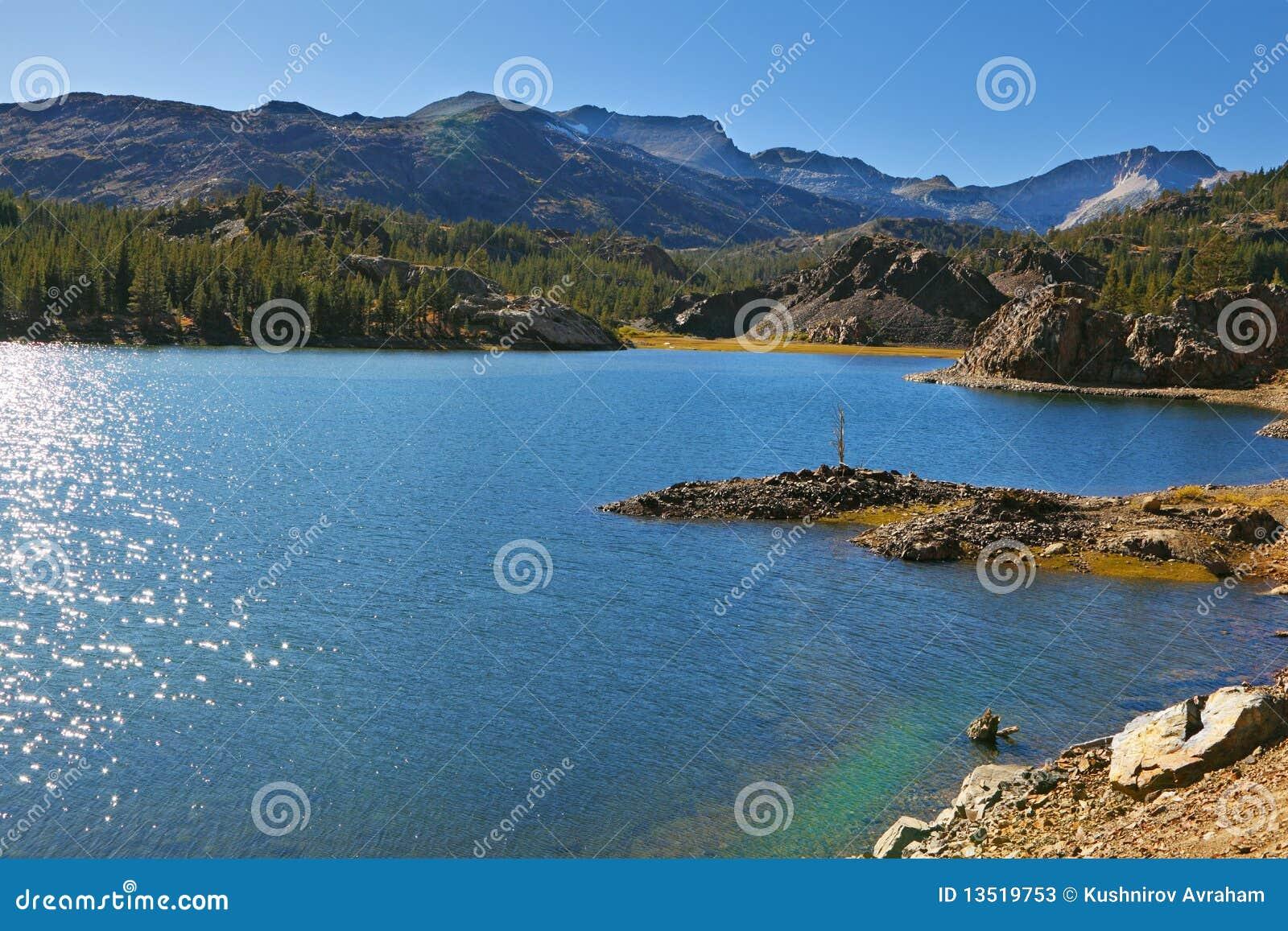 полдень озера солнечный