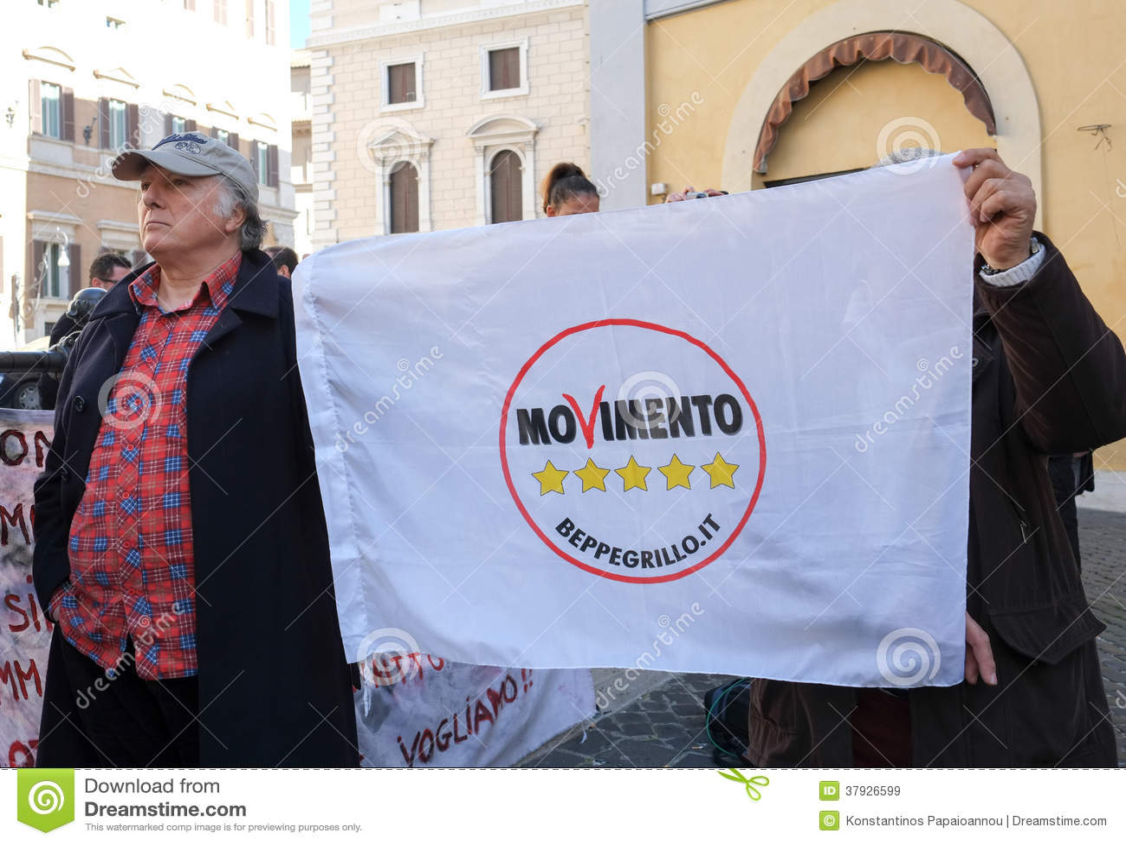 Политическая демонстрация в Риме