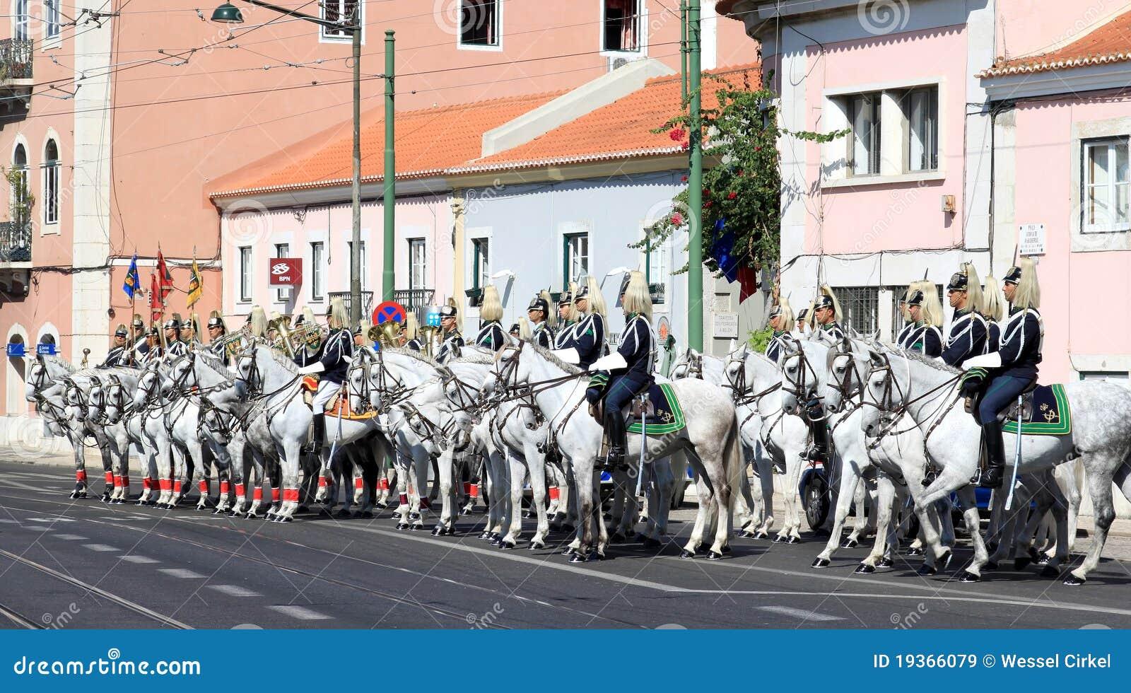 полк lusitano лошадей кавалерии belem