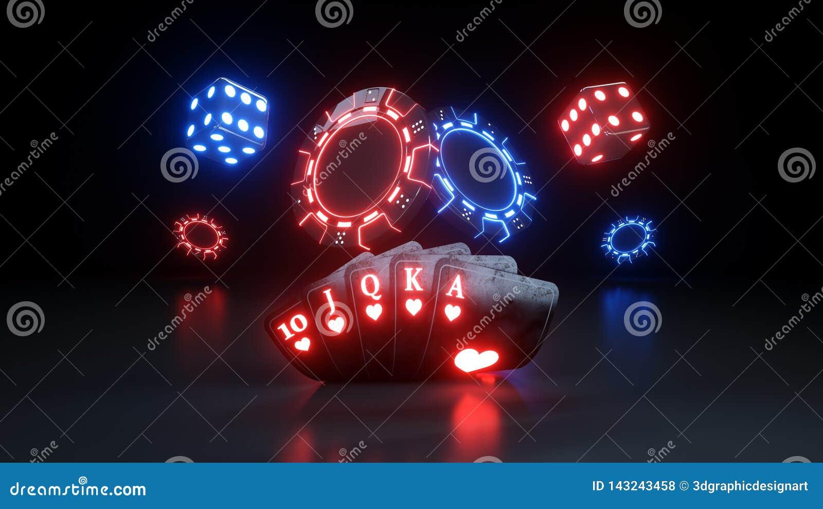 Полное концепции азартных игр казино королевское - иллюстрация 3D