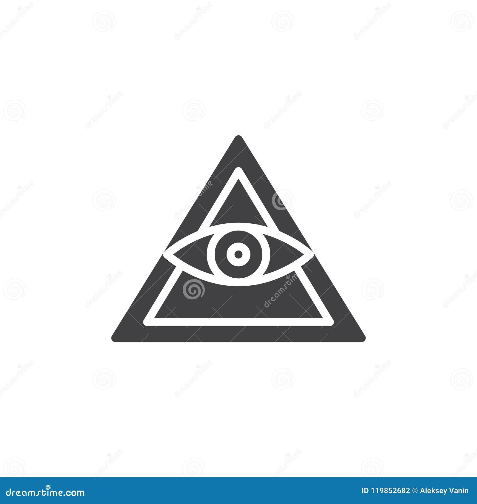 Полностью видя значок вектора пирамиды глаза