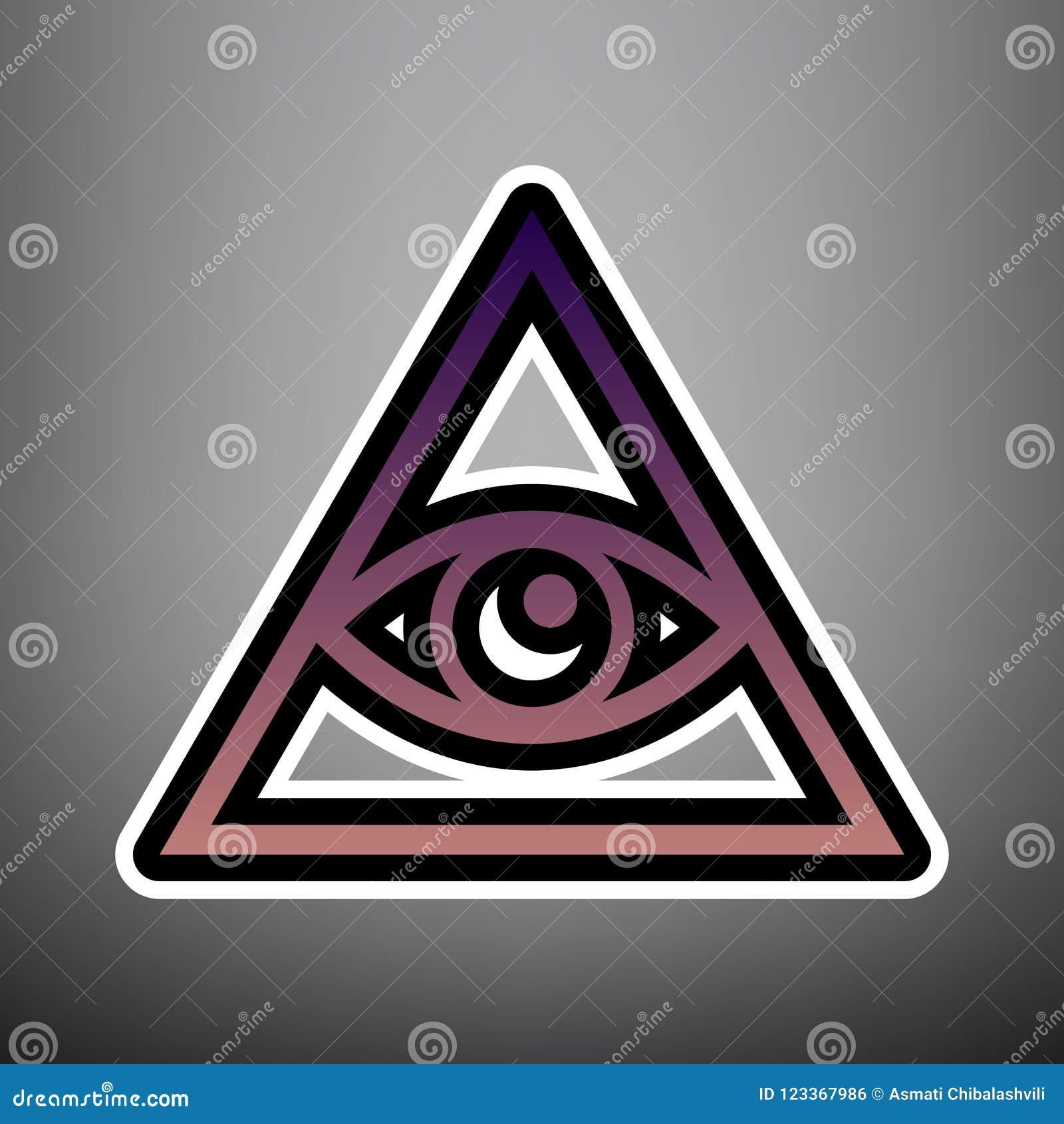 Полностью видя символ пирамиды глаза Freemason и духовность вектор