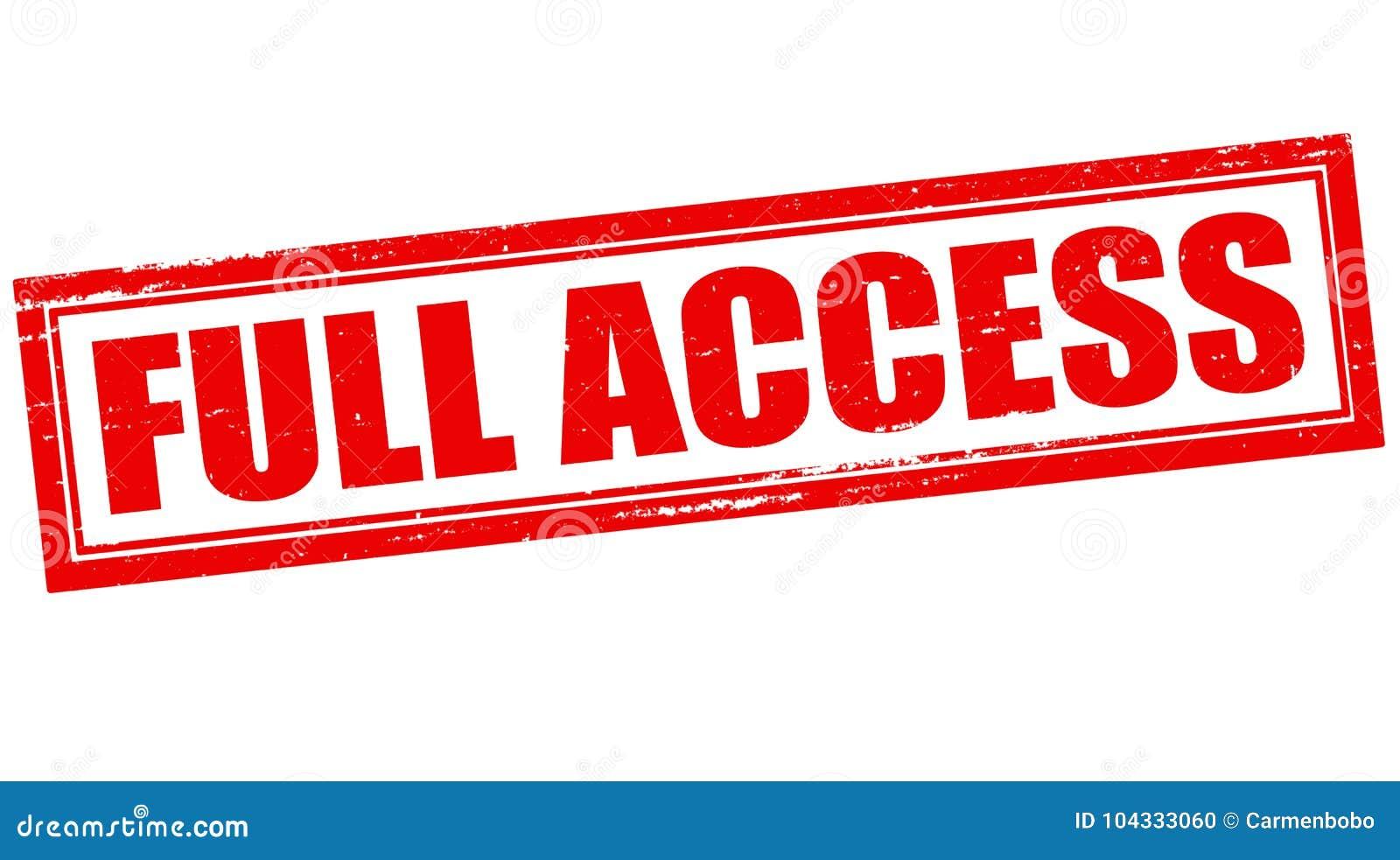 Полный доступ