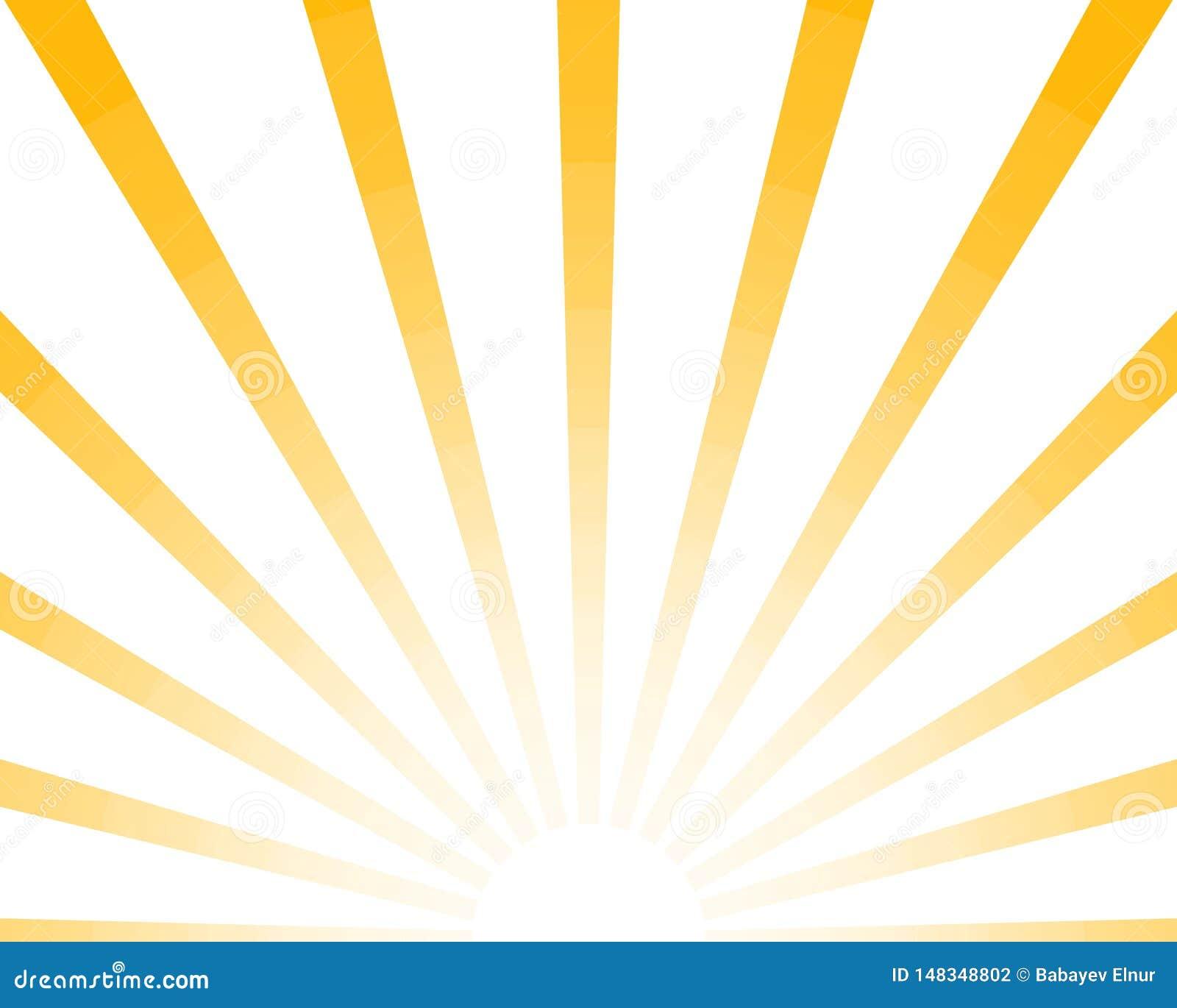 Половинное Солнце излучает ретро предпосылку, желтый покрашенный sunburst стильный Посветите картине Eps10 лета Иллюстрация starb