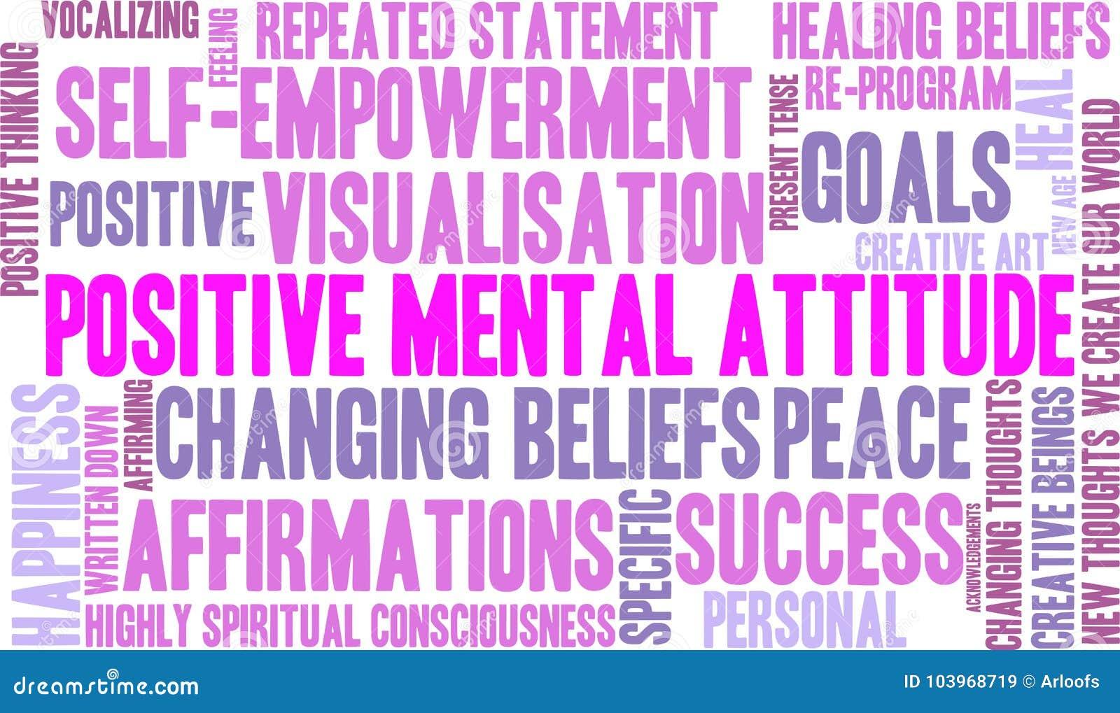 Положительное облако слова умственной ориентации