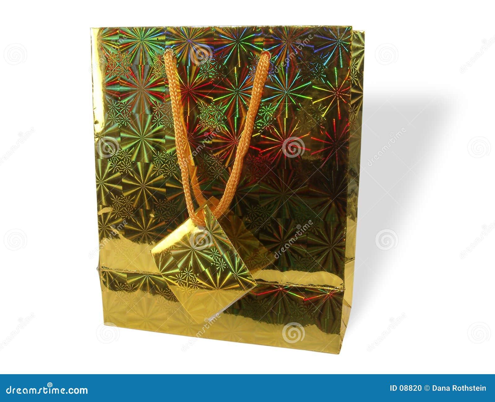положите золото в мешки подарка