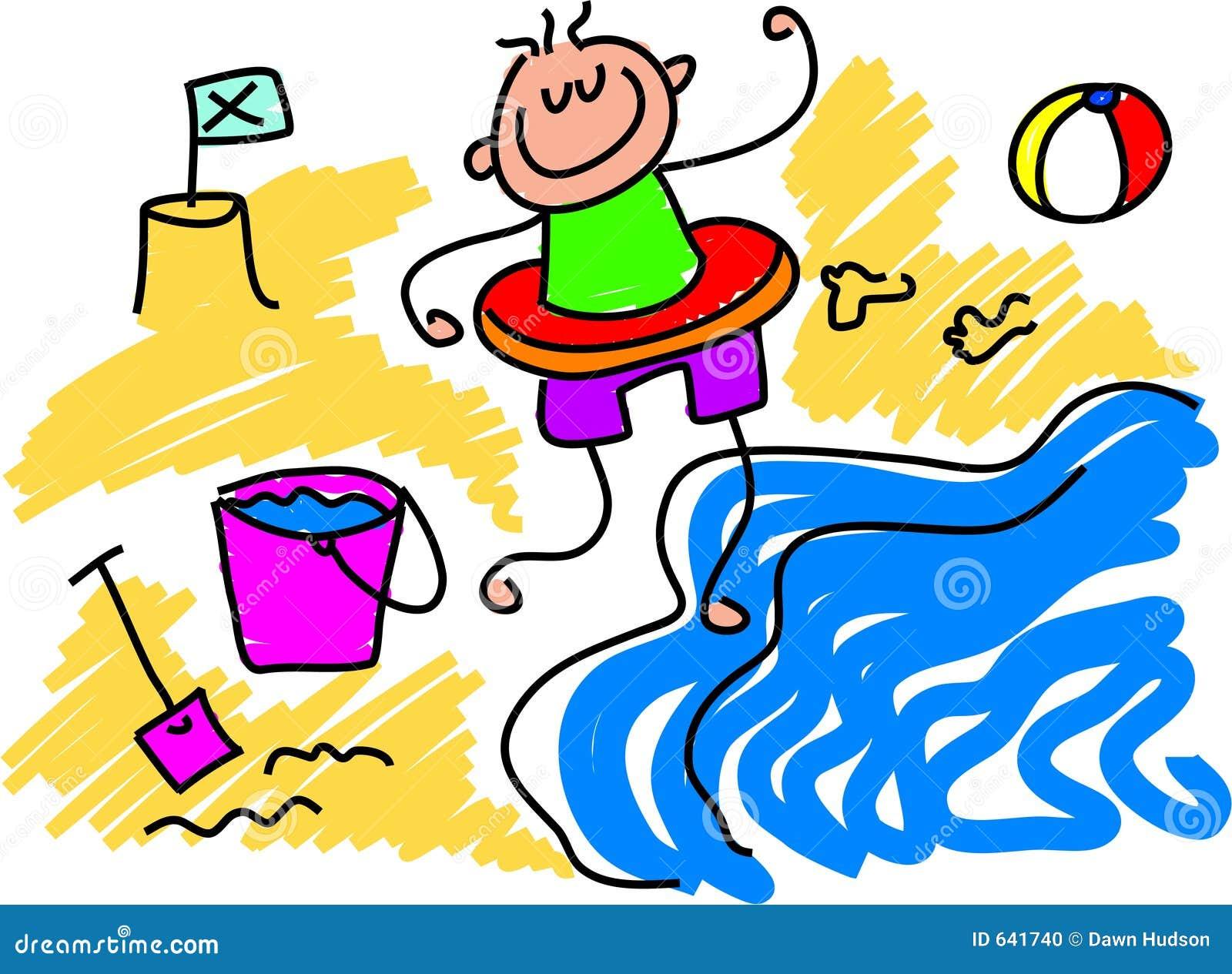 Download полоскать пляжа иллюстрация вектора. иллюстрации насчитывающей чертежи - 641740