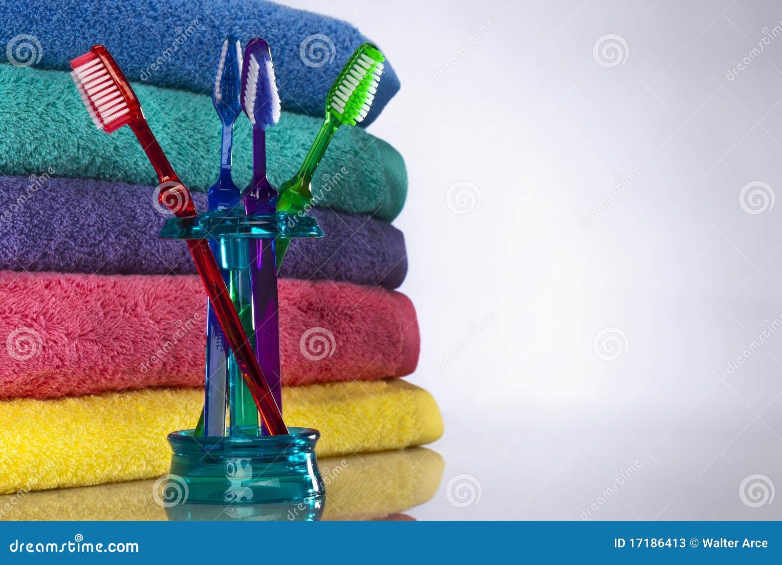 полотенца зубной щетки ванны